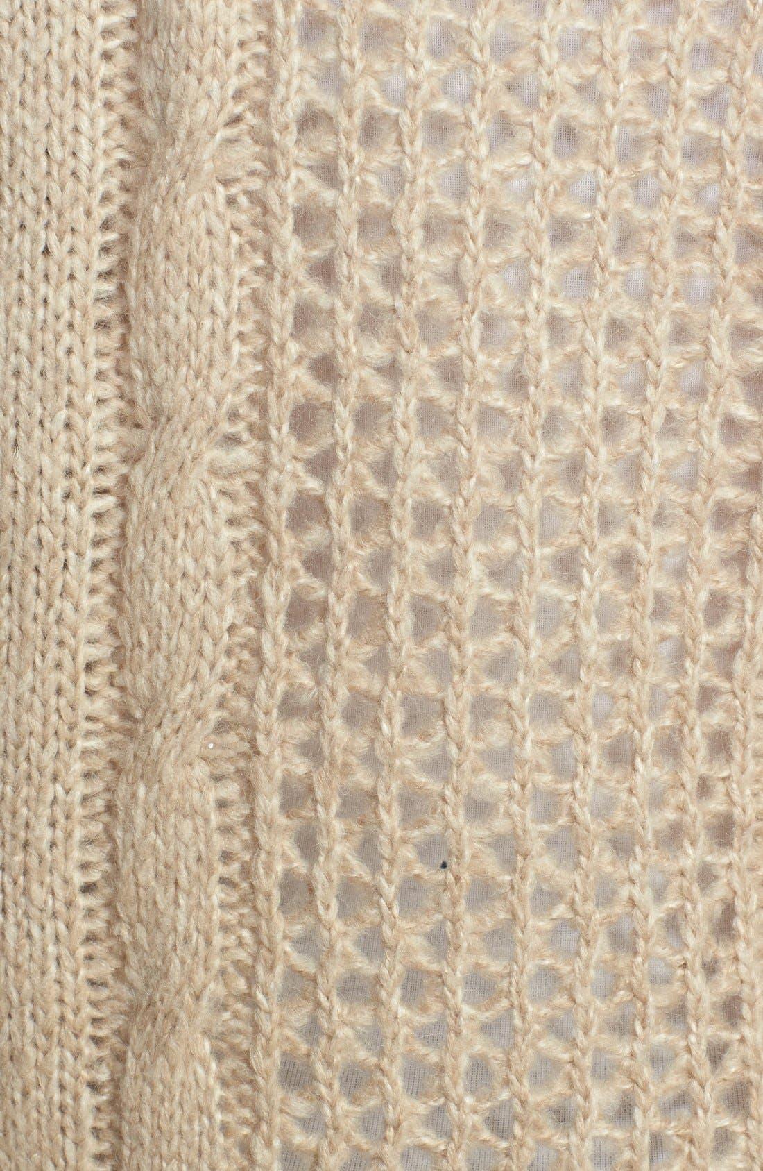 Alternate Image 3  - kensie Cowl Neck Open Stitch Sweater