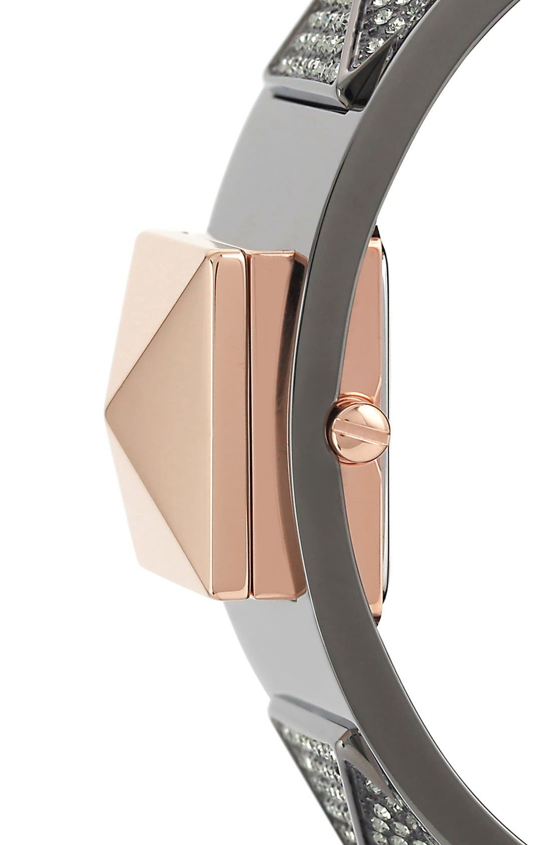 Alternate Image 4  - Vince Camuto Pyramid Case Crystal Accent Bangle Watch, 20mm