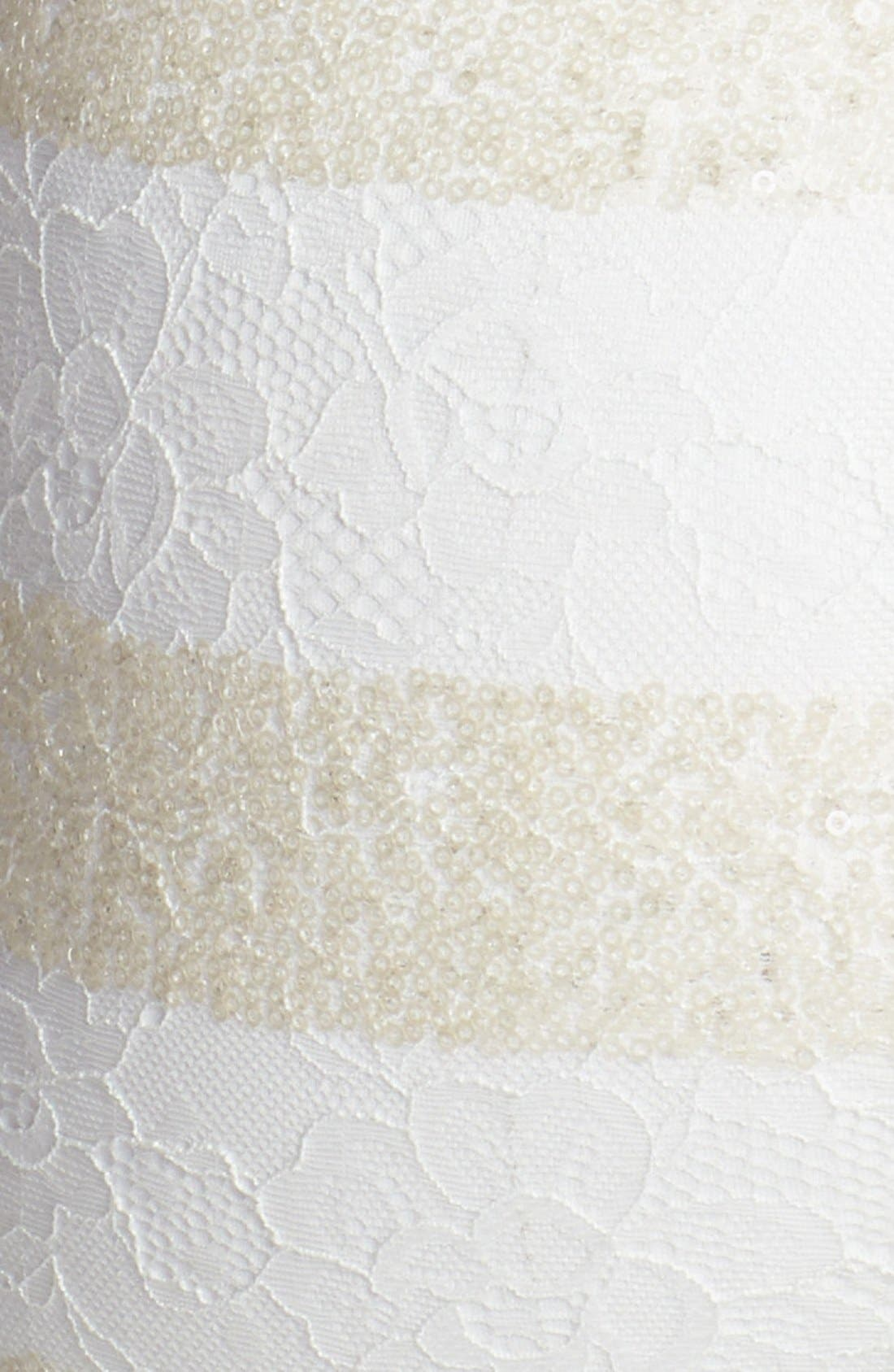 Alternate Image 4  - Dress the Population 'Aubrey' Sequin Stripe Lace Body-Con Dress