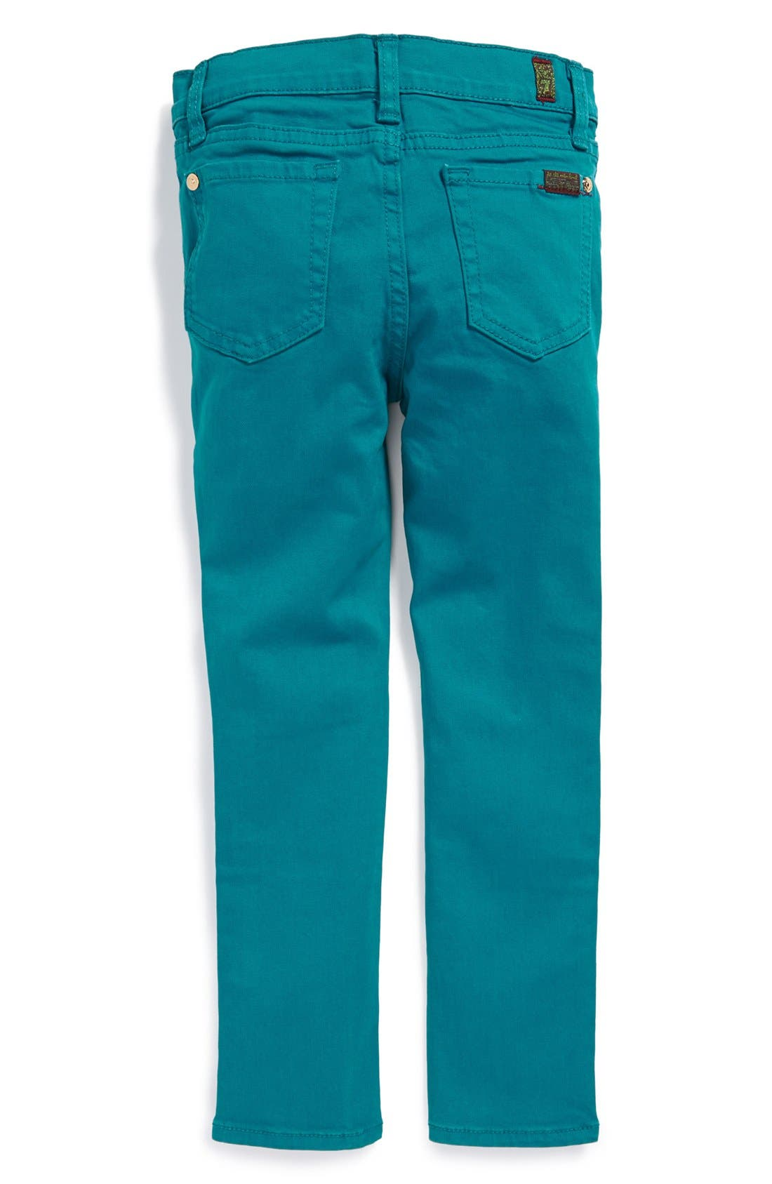 Alternate Image 1 Selected - 7 For All Mankind® 'The Skinny' Stretch Jeans (Big Girls)