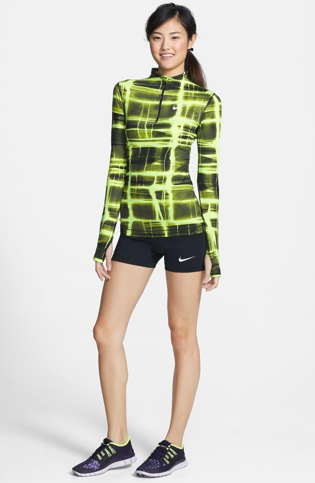 Alternate Image 3  - Nike 'Pro' Dri-FIT Printed Half Zip Top