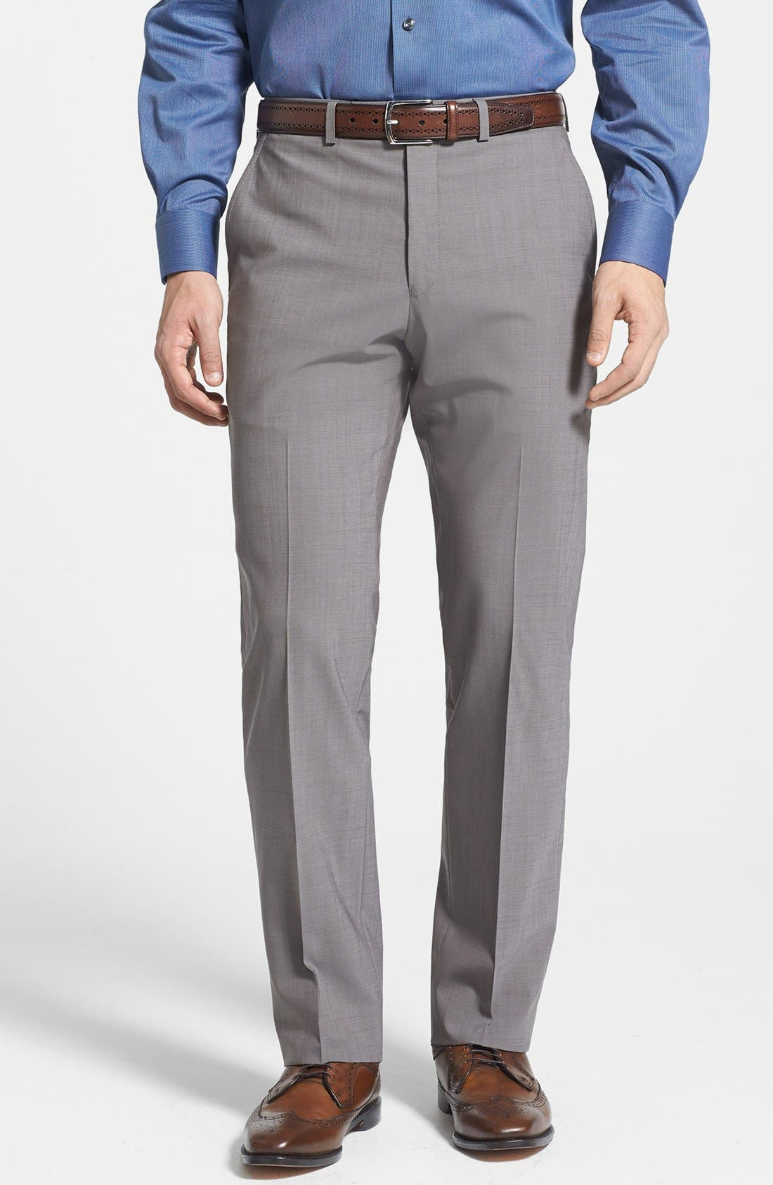 Alternate Image 4  - Michael Kors Trim Fit Stretch Wool Suit