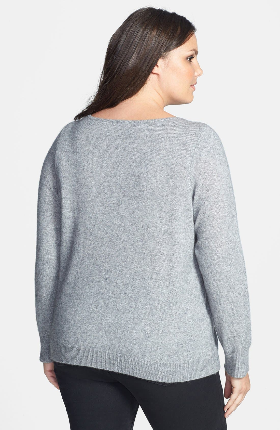 Alternate Image 2  - Halogen® Wool Blend Sweater (Plus Size)