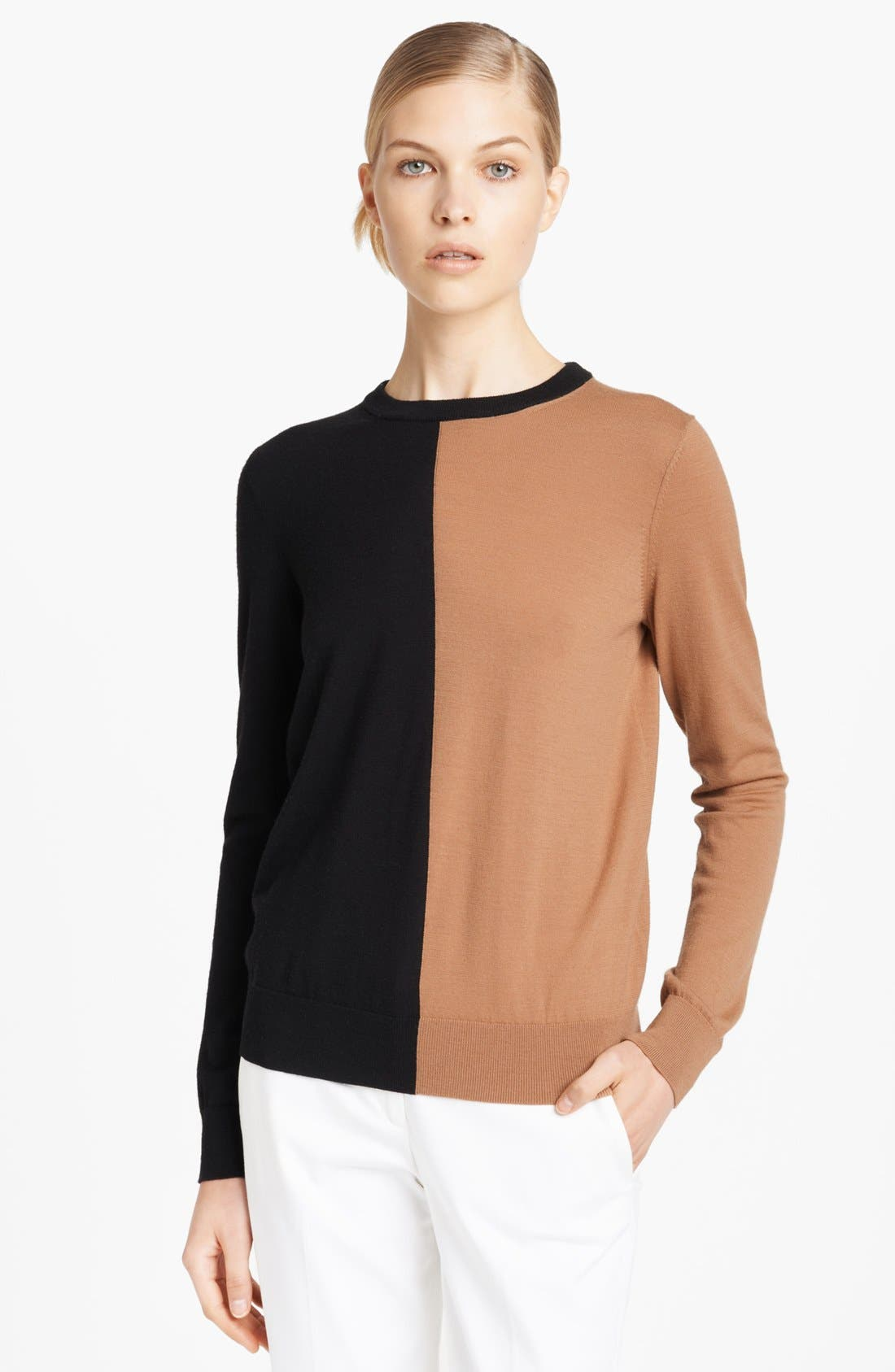 Alternate Image 1 Selected - Michael Kors Colorblock Merino Wool Sweater