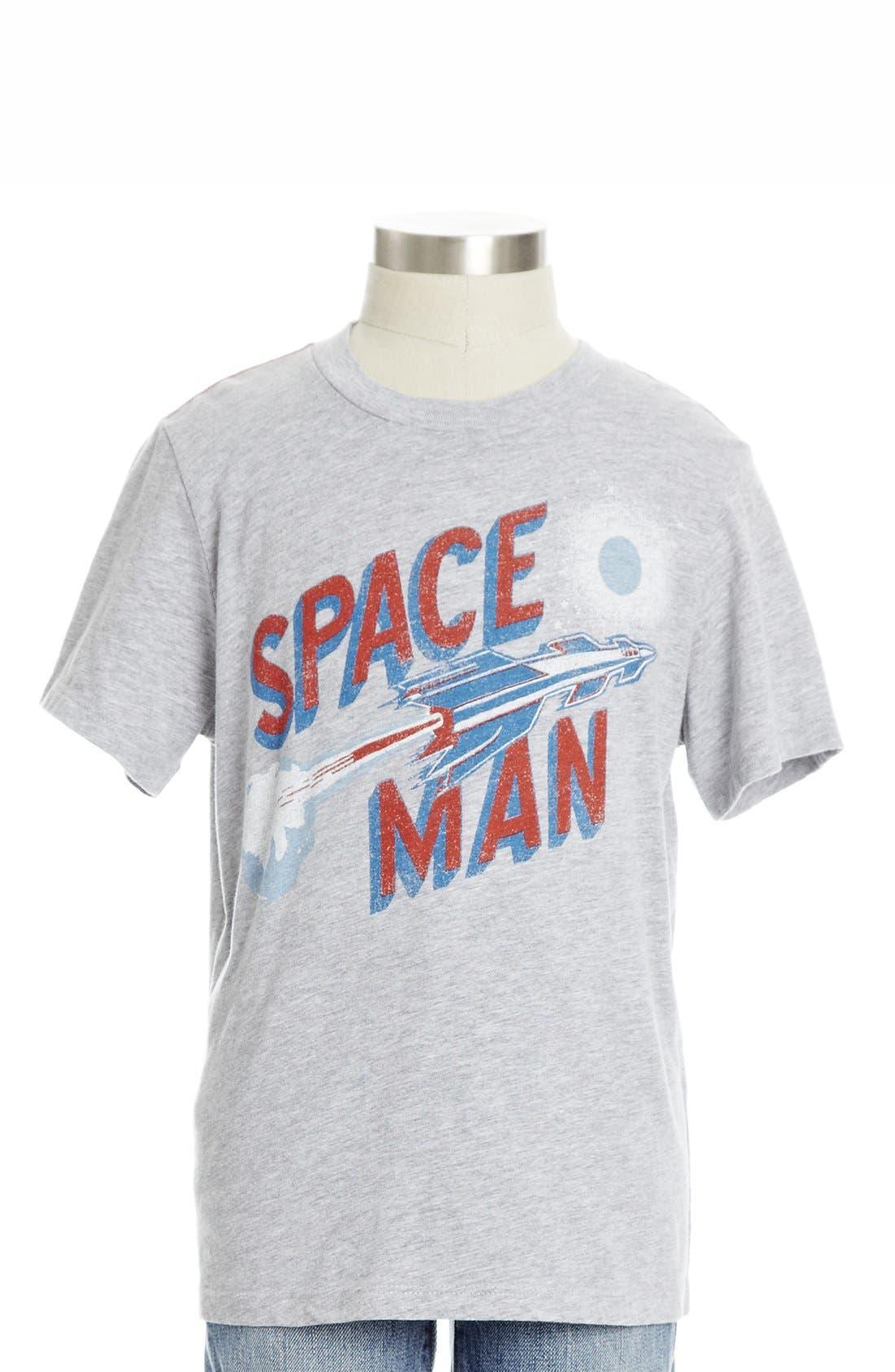 Alternate Image 1 Selected - Peek 'Space Man' Crewneck T-Shirt (Toddler Boys, Little Boys & Big Boys)