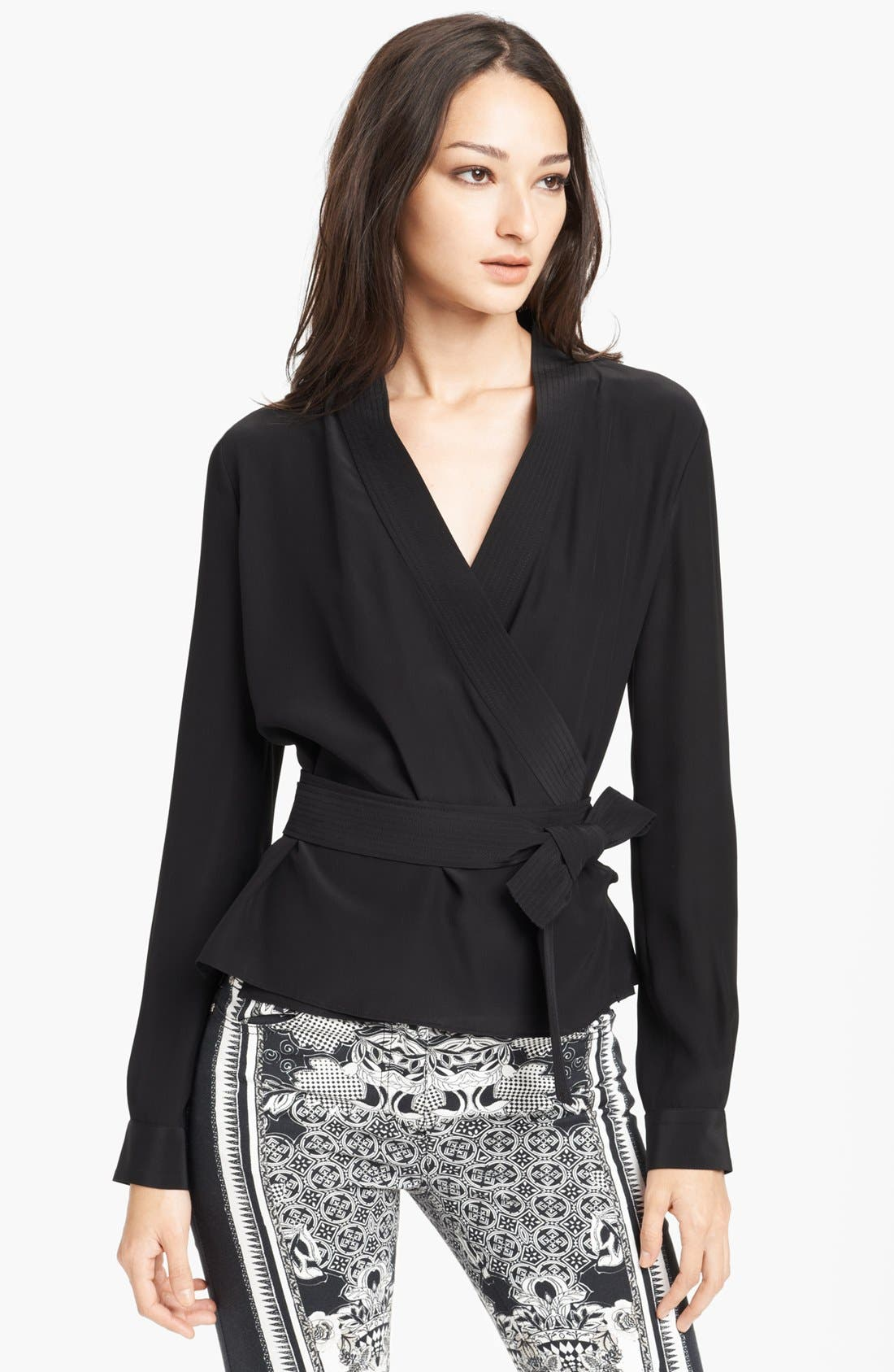 Alternate Image 1 Selected - Roberto Cavalli Crêpe de Chine Kimono Blouse