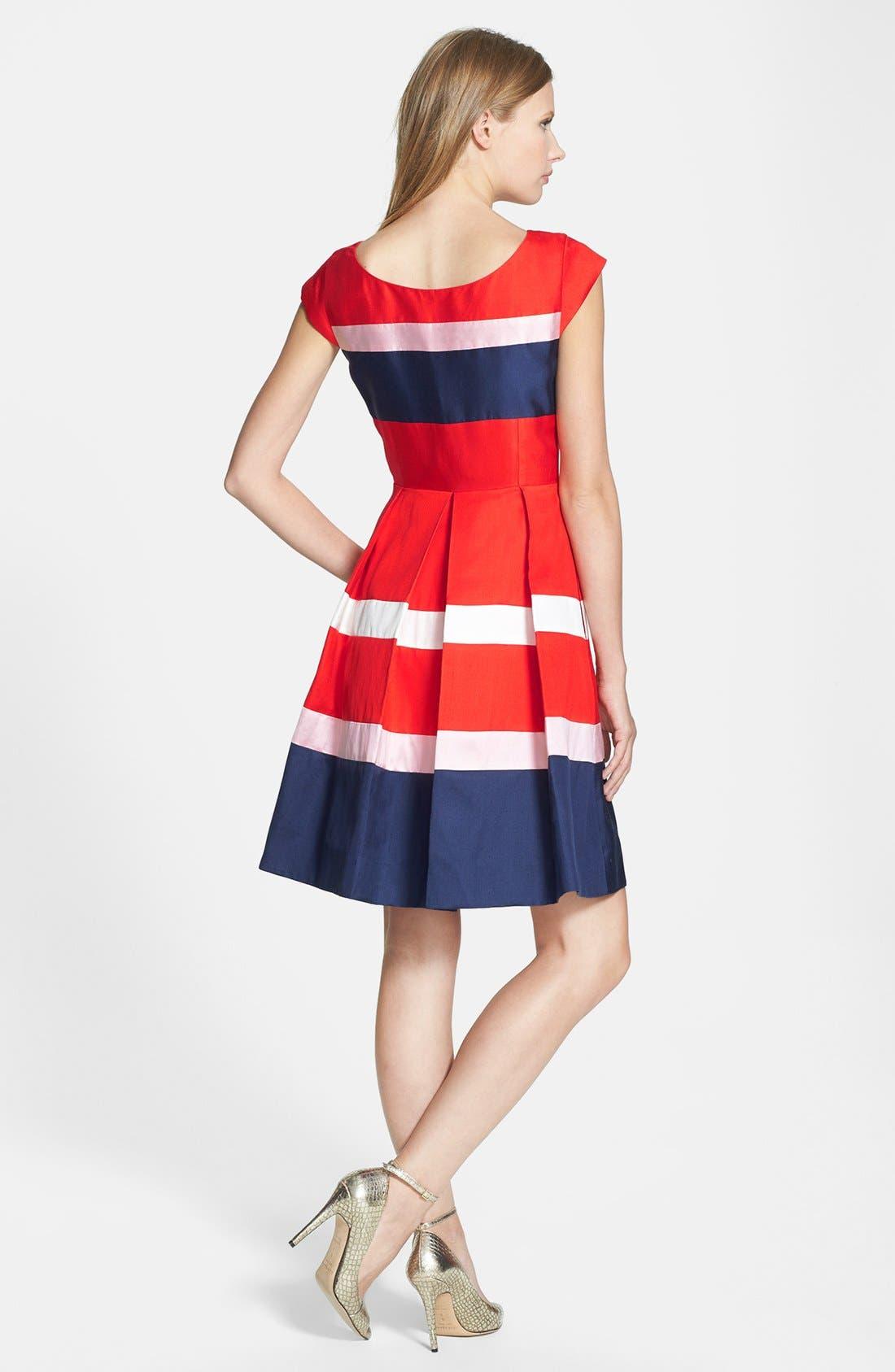 Alternate Image 2  - kate spade new york 'britta' silk blend fit & flare dress