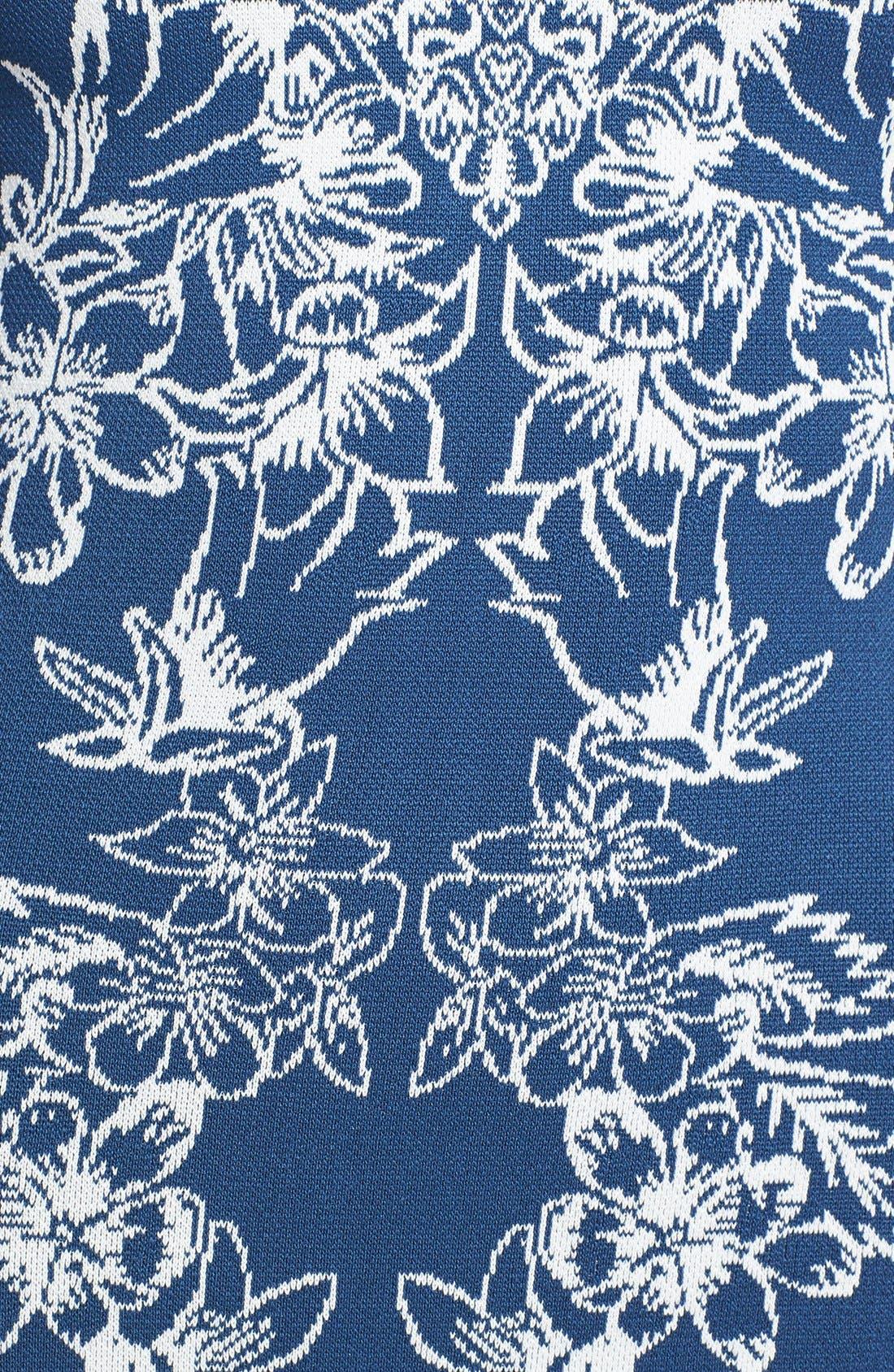 Alternate Image 3  - BCBGMAXAZRIA Floral Jacquard Body-Con Dress