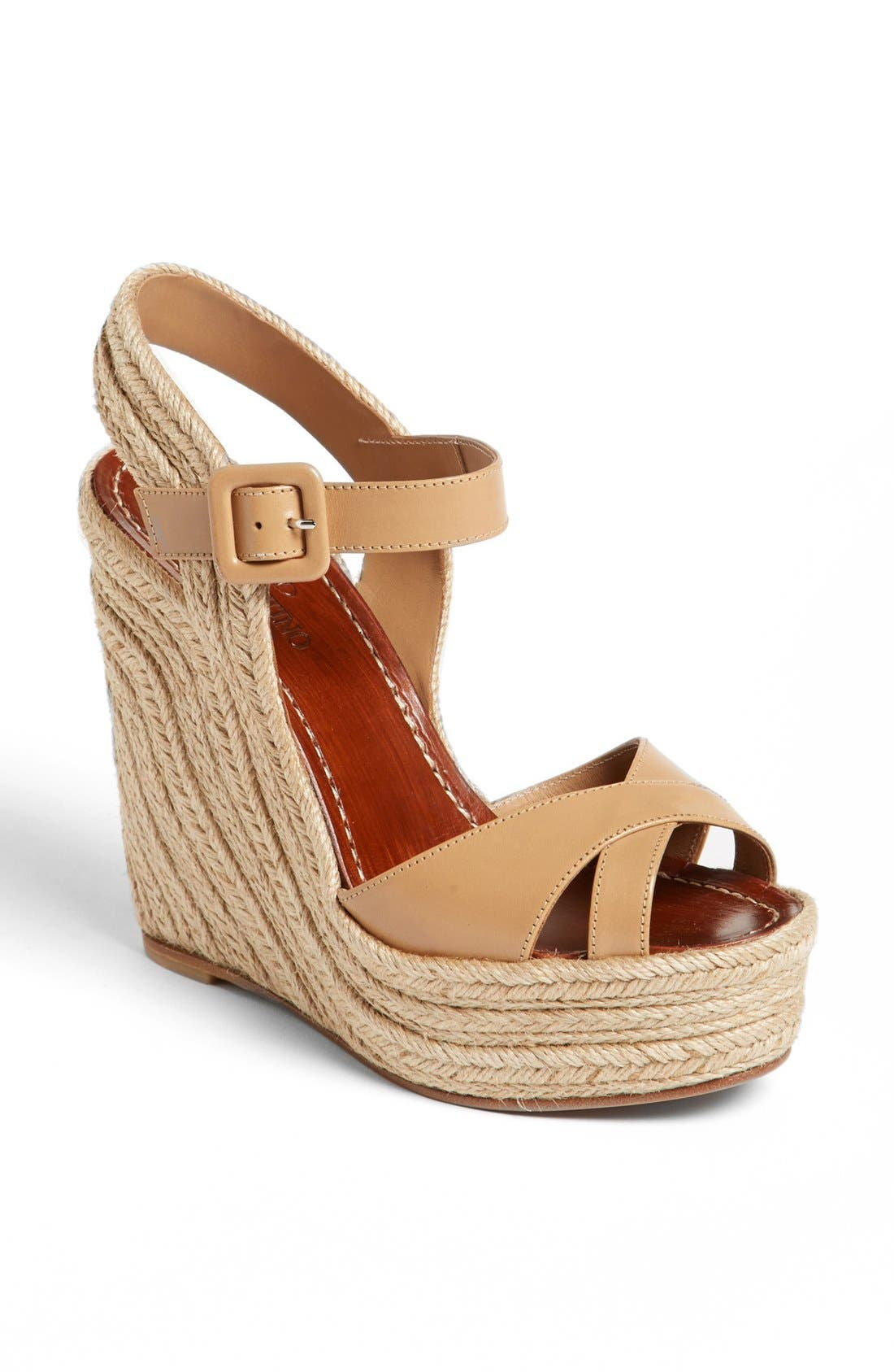 Alternate Image 1 Selected - Valentino 'St. Tropez' Espadrille Wedge Sandal