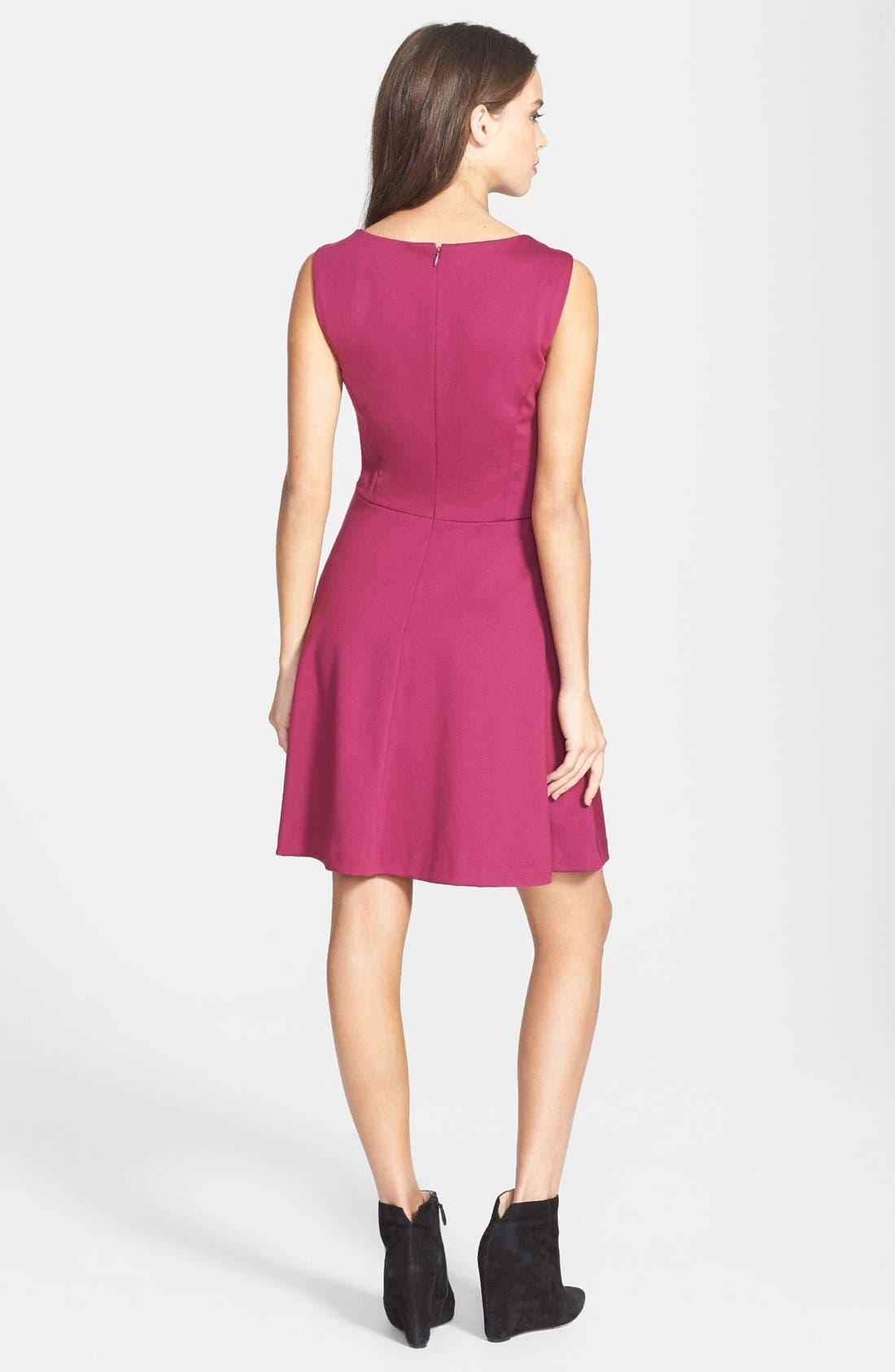 Alternate Image 2  - Jessica Simpson Lace Yoke Ponte Fit & Flare Dress