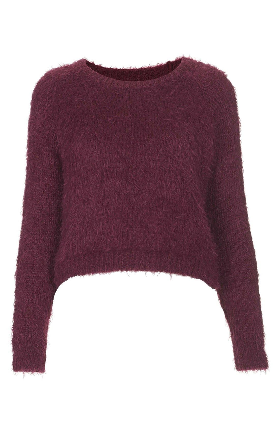 Alternate Image 3  - Topshop 'Monster Rib' Textured Crewneck Crop Sweater