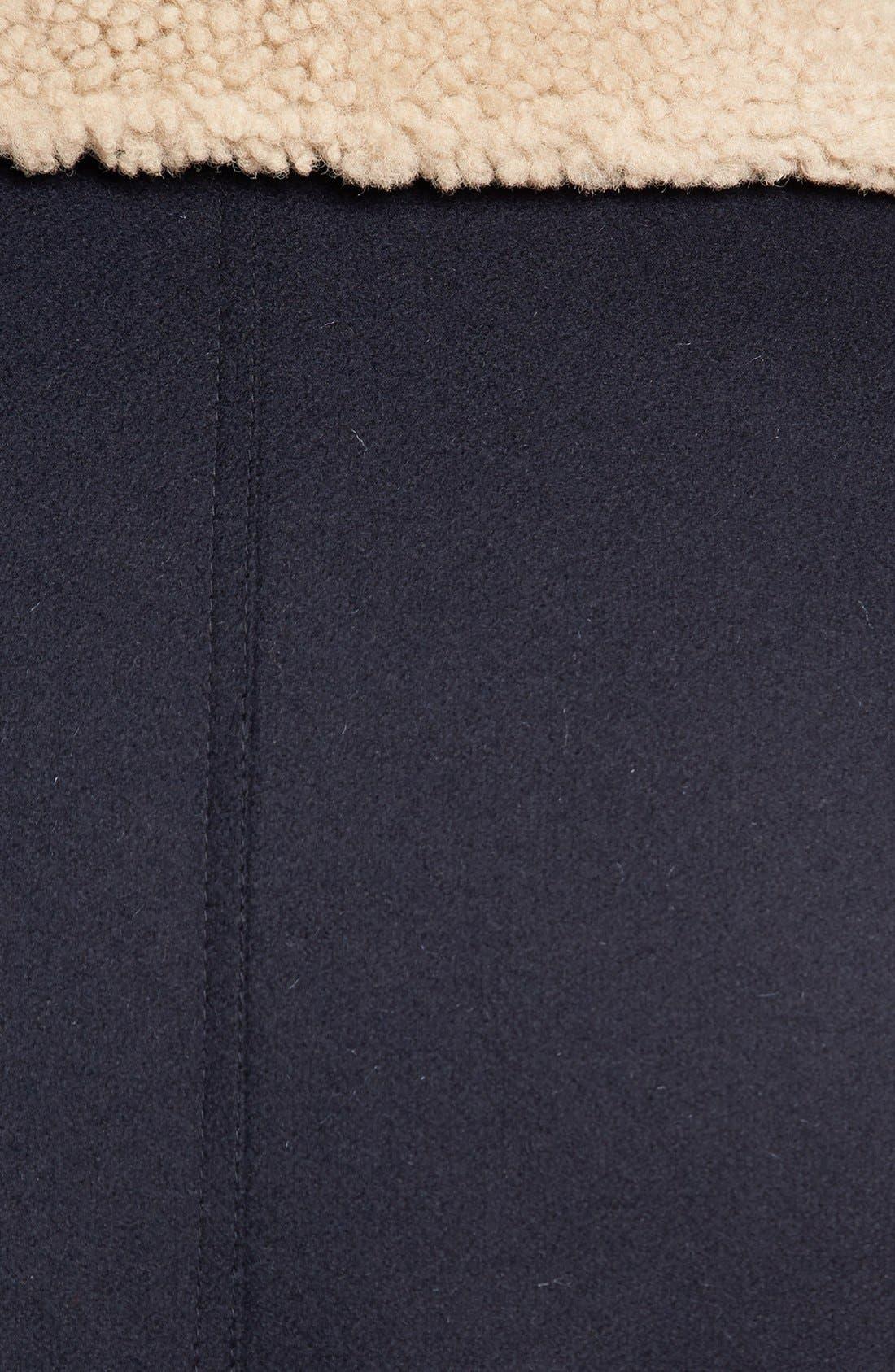 Alternate Image 3  - AMI Alexandre Mattiussi Wool & Genuine Shearling Bomber Jacket