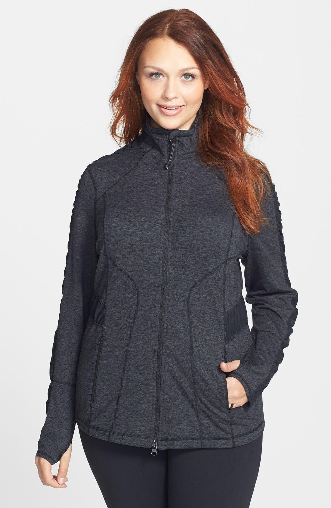 Main Image - Zella 'Prism' Cross Dye Jacket (Plus Size)