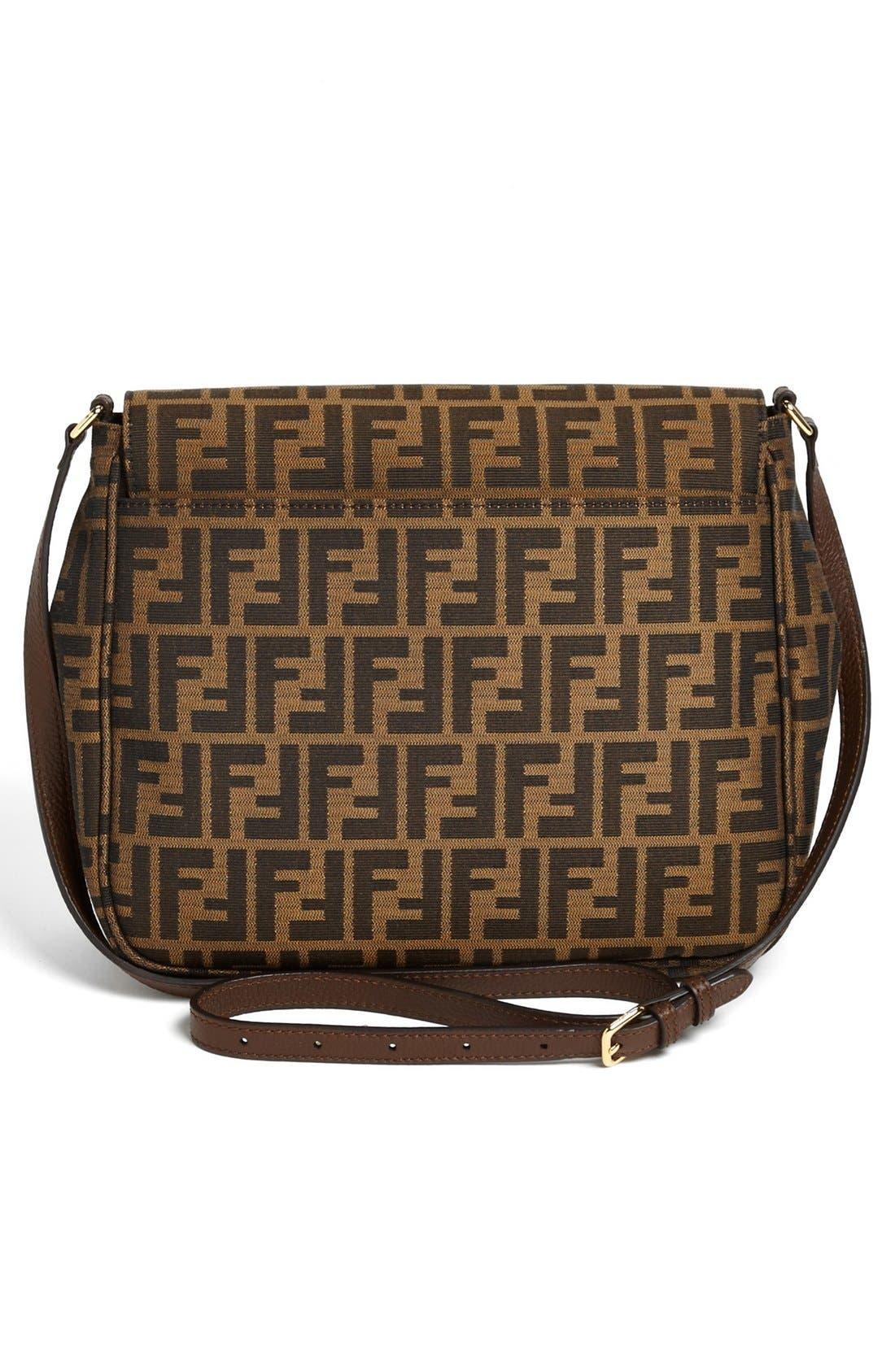 Alternate Image 4  - Fendi 'Zucca - Large' Logo Jacquard Crossbody Bag