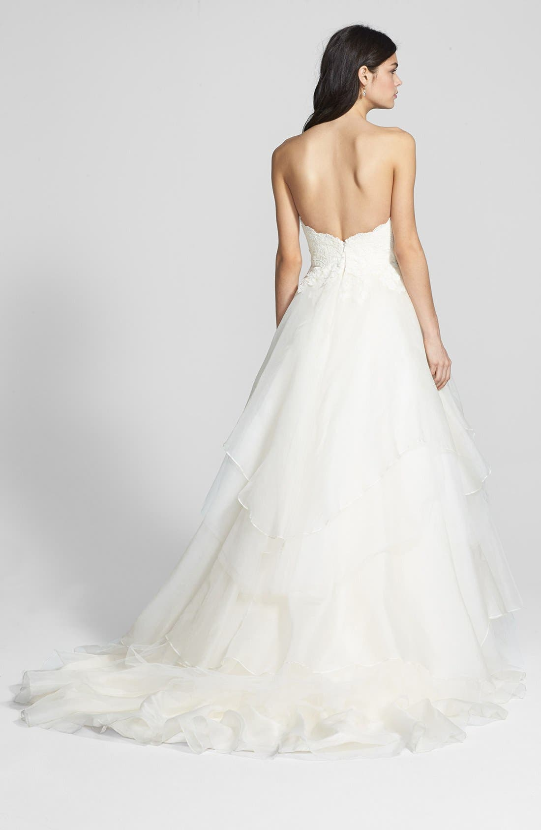 Alternate Image 2  - Hayley Paige 'Mila' Strapless Silk Organza Wedding Dress (In Stores Only)