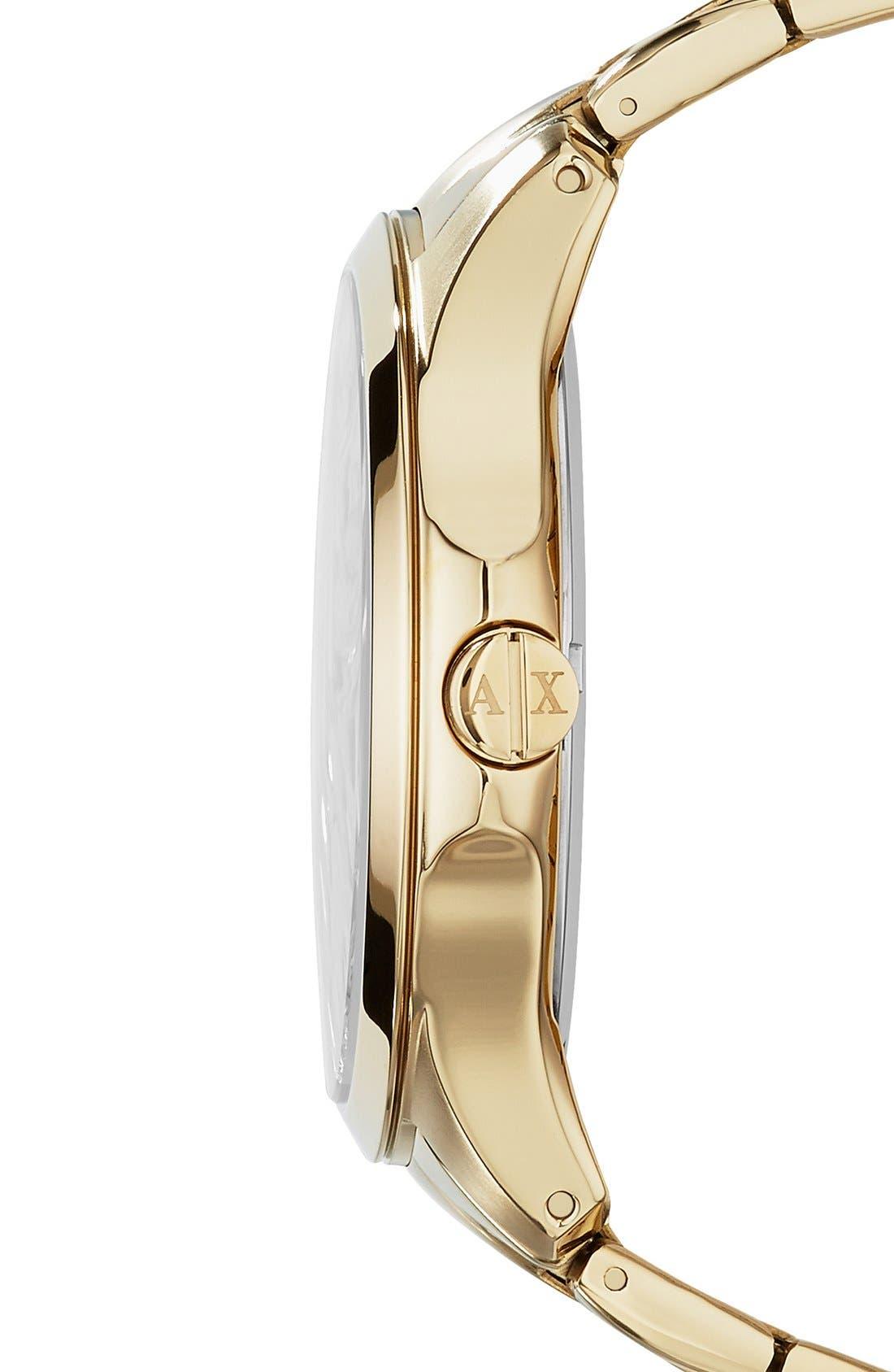 Alternate Image 3  - AX Armani Exchange Bracelet Watch, 46mm