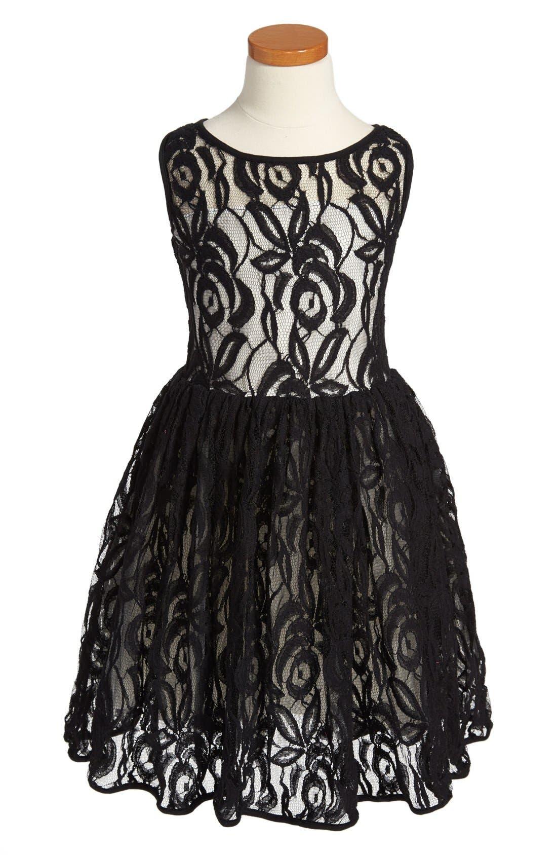 Main Image - Fiveloaves Twofish 'Mozart' Sleeveless Lace Dress (Little Girls & Big Girls)