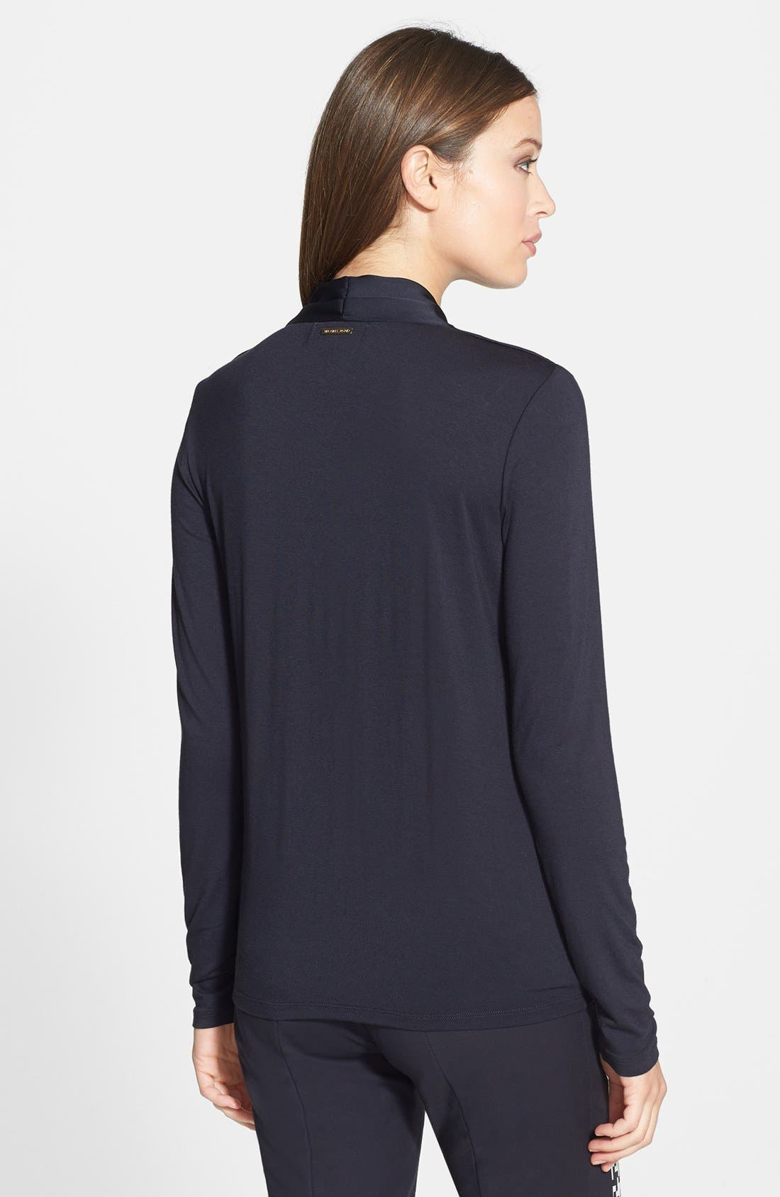Alternate Image 2  - MICHAEL Michael Kors Cross Front Top (Regular & Petite)