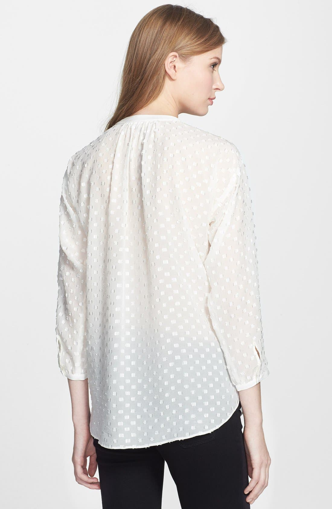 Alternate Image 2  - Rebecca Taylor 'Clip' Dot Silk Blend Blouse