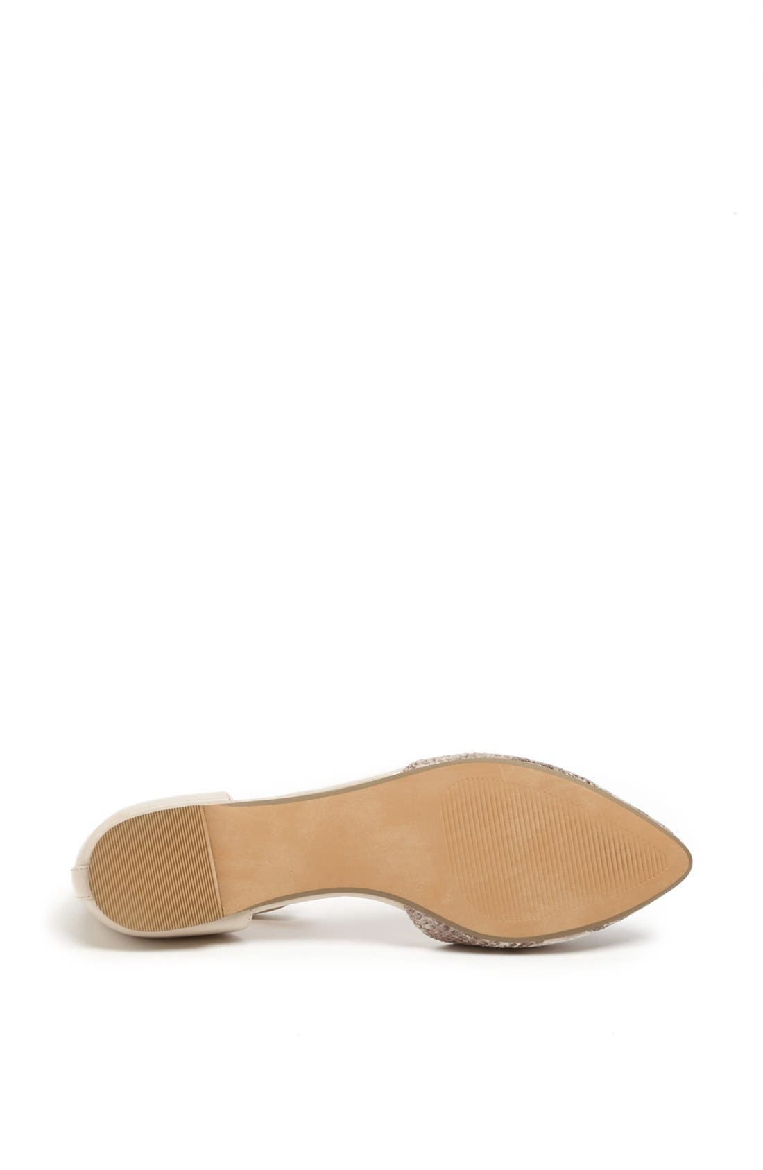 Alternate Image 4  - Sole Society 'Hadley' Ankle Strap Pointy Toe Flat