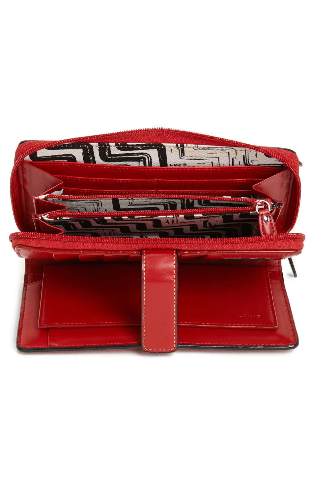 Alternate Image 2  - Lodis 'Audrey - Deluxe' Checkbook Clutch Wallet