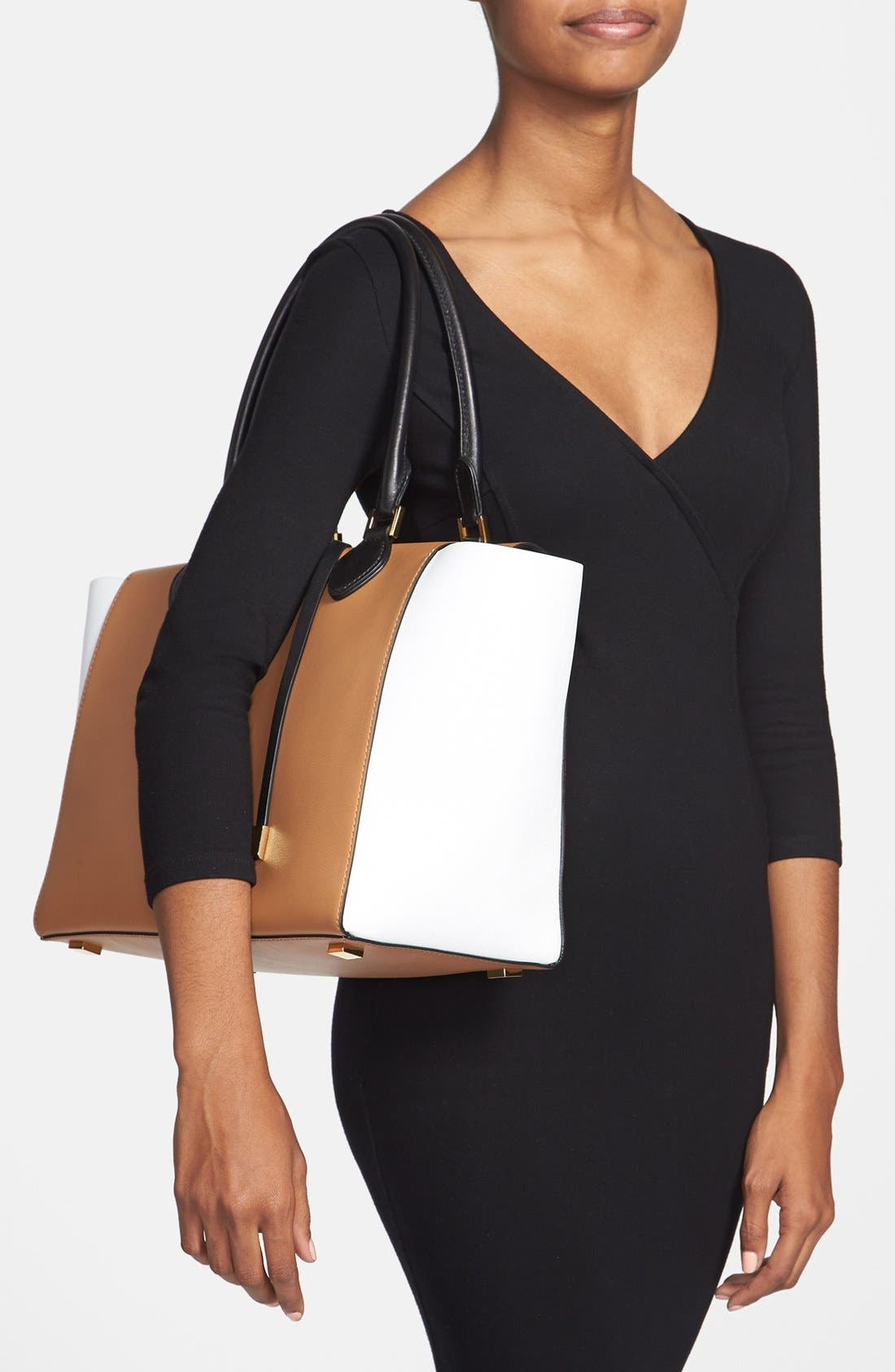 Alternate Image 2  - Michael Kors 'Large Miranda' Colorblock Calfskin Tote