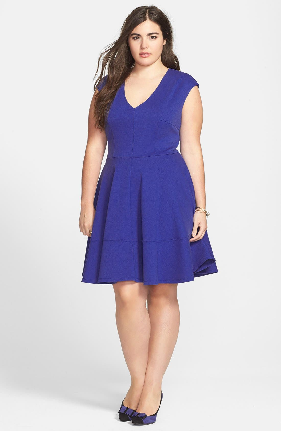Alternate Image 1 Selected - Eight Sixty Seamed Fit & Flare Dress (Plus Size)