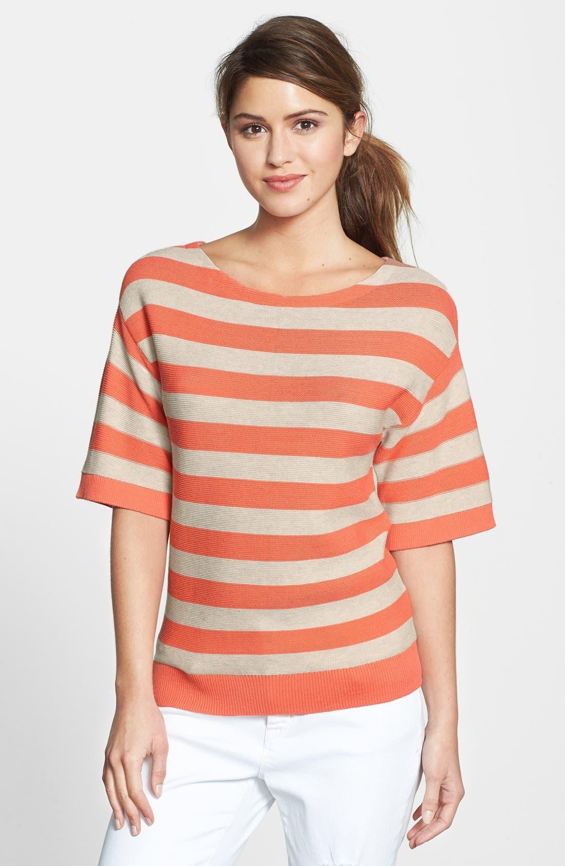 Main Image - Halogen® Stripe Boatneck Sweater