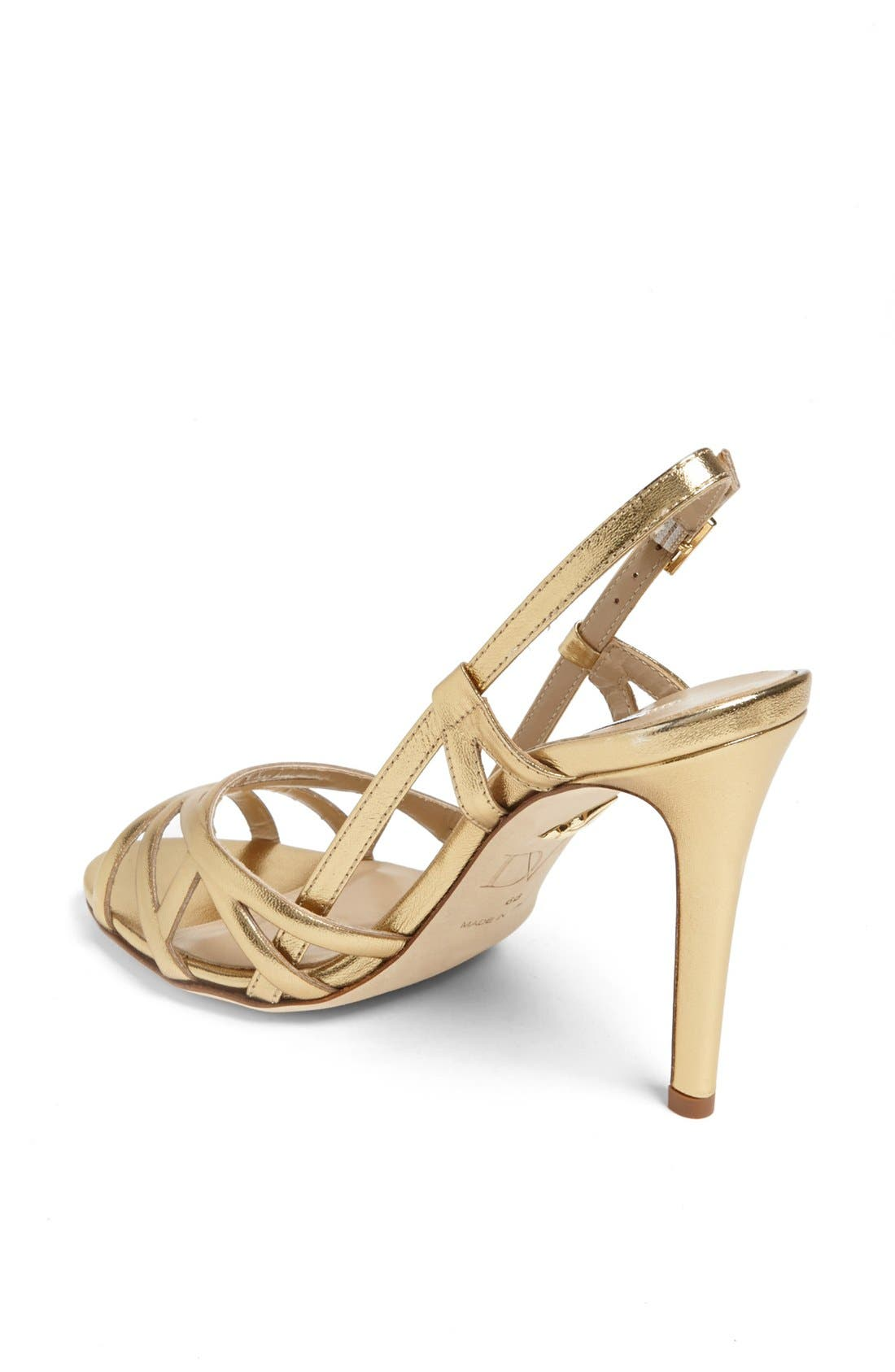 Alternate Image 2  - Diane von Furstenberg 'Upton' Metallic Leather Sandal