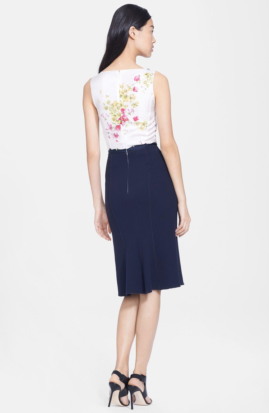 Alternate Image 2  - Nina Ricci Print Bodice Twill Dress
