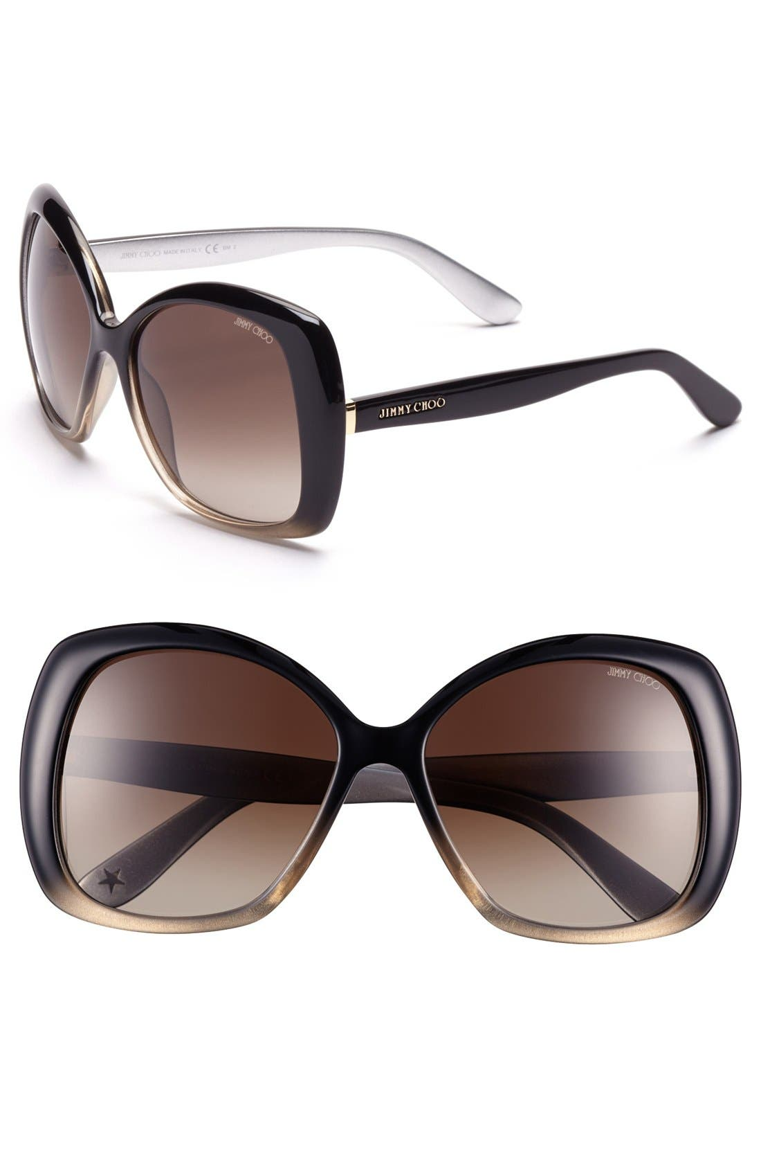 Alternate Image 1 Selected - Jimmy Choo 'Marty' 57mm Sunglasses