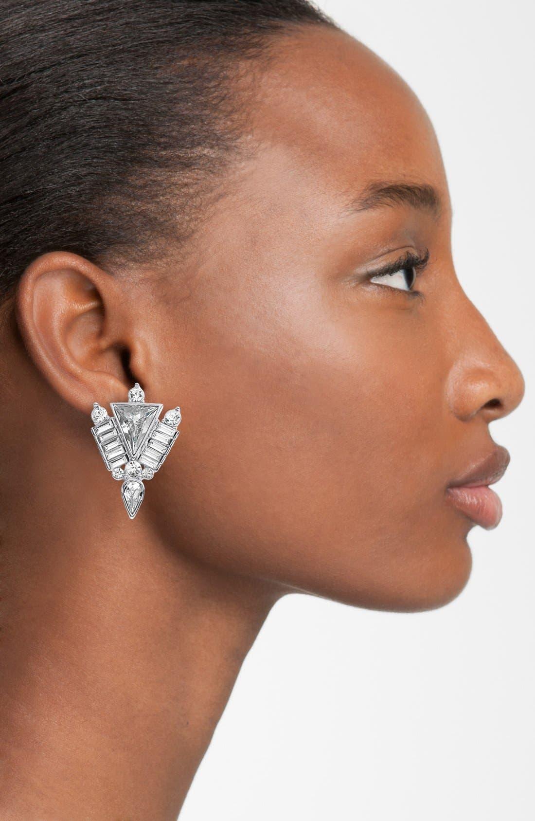 Alternate Image 2  - Vince Camuto 'Crystal Clear' Stud Earrings