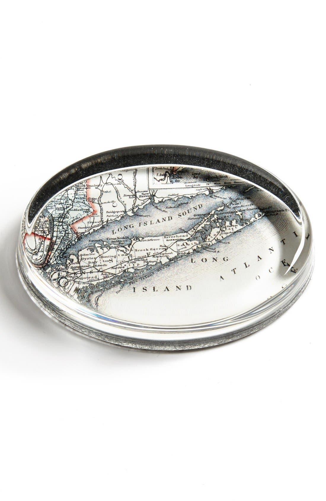 Alternate Image 1 Selected - Ben's Garden 'Antique Long Island Map' Paperweight