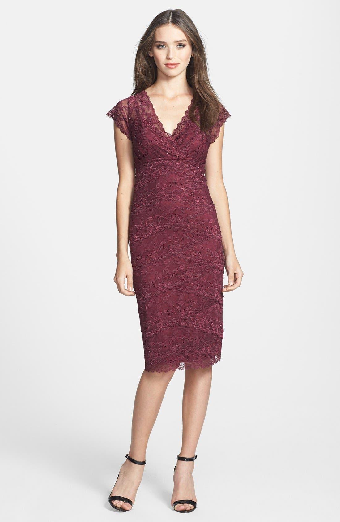 Alternate Image 3  - Marina Tiered Lace Dress (Regular & Petite)