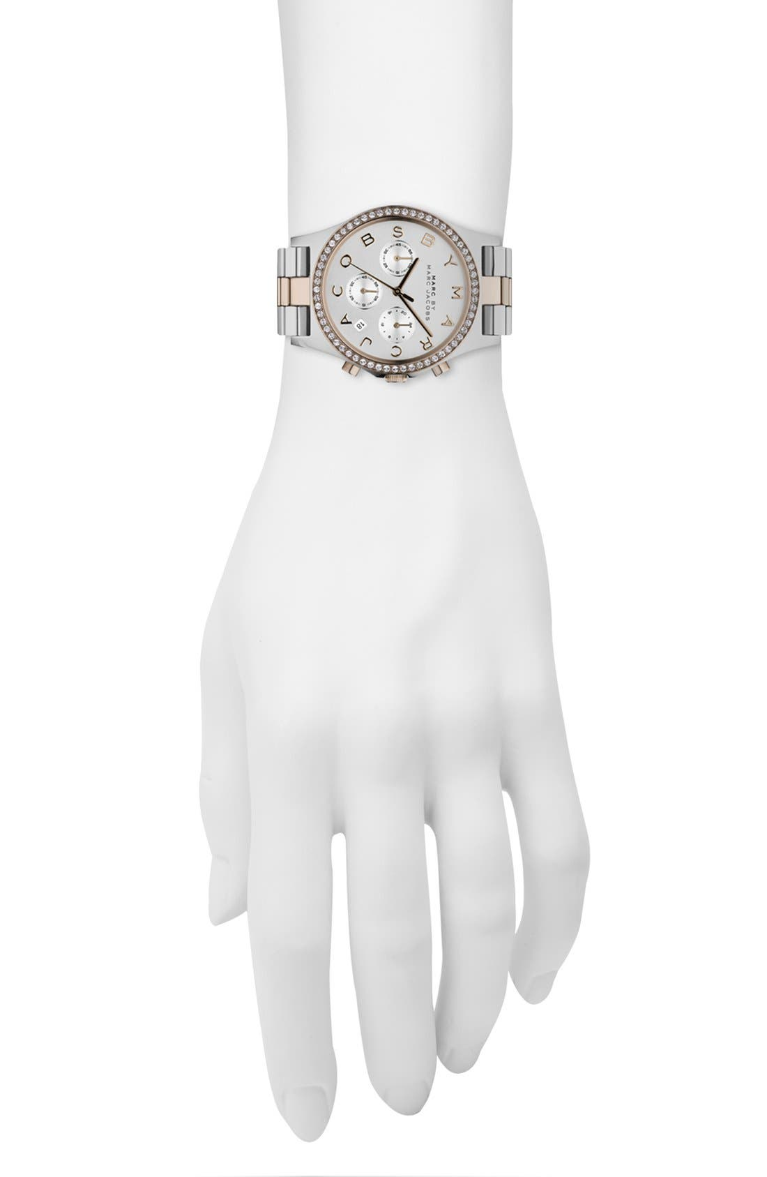 Alternate Image 4  - MARC JACOBS 'Henry' Chronograph & Crystal Topring Watch