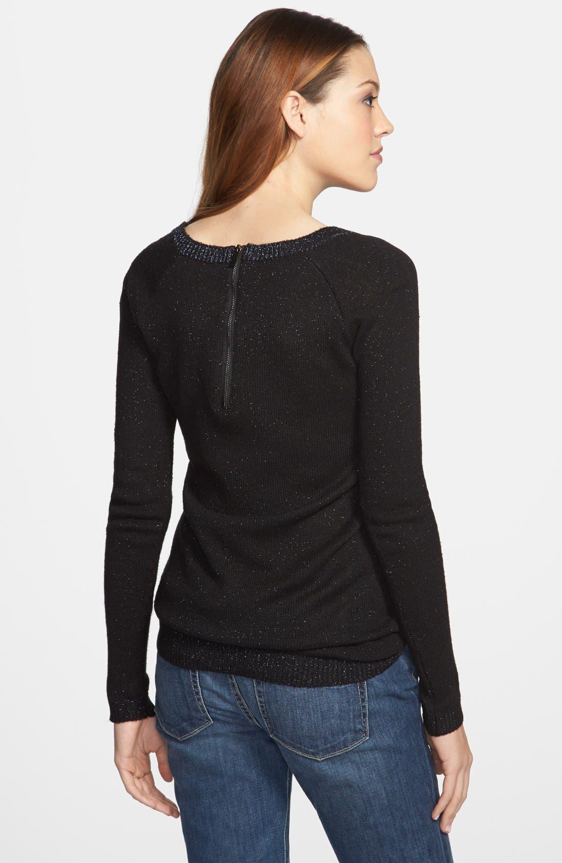 Alternate Image 2  - Dex Colorblock Metallic Knit Tunic Sweater