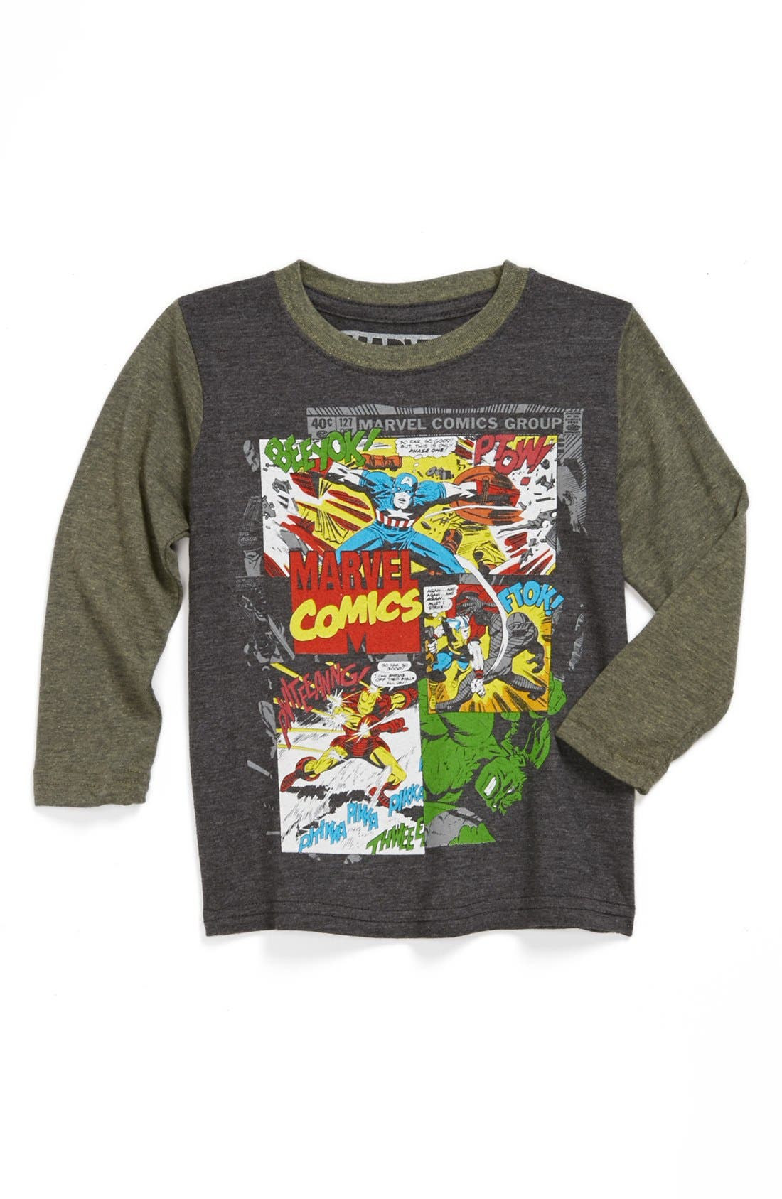 Main Image - Jem 'Marvel Comics™ Group' Long Sleeve T-Shirt (Toddler Boys)