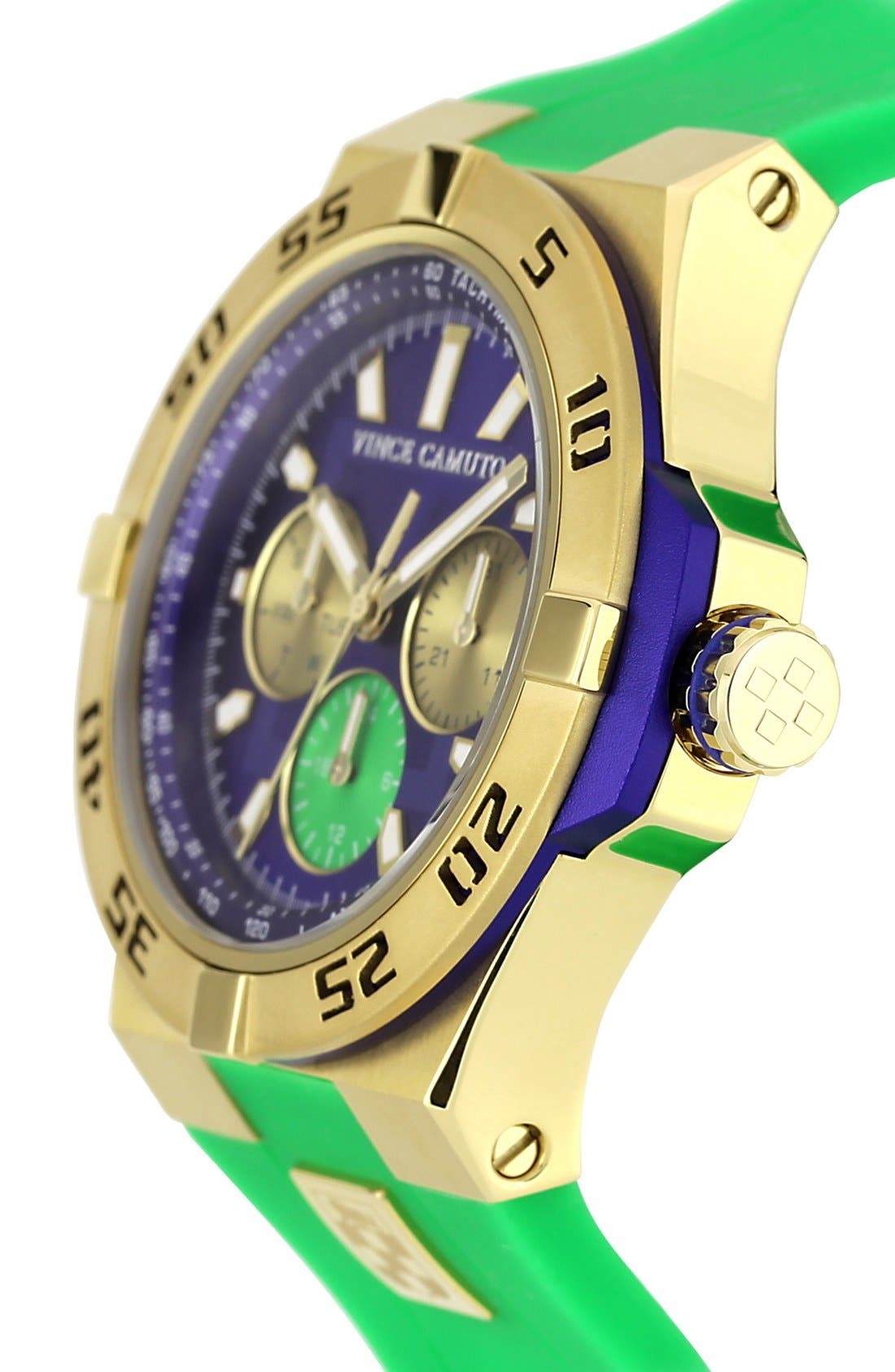 Alternate Image 3  - Vince Camuto Chronograph Silicone Strap Watch, 43mm