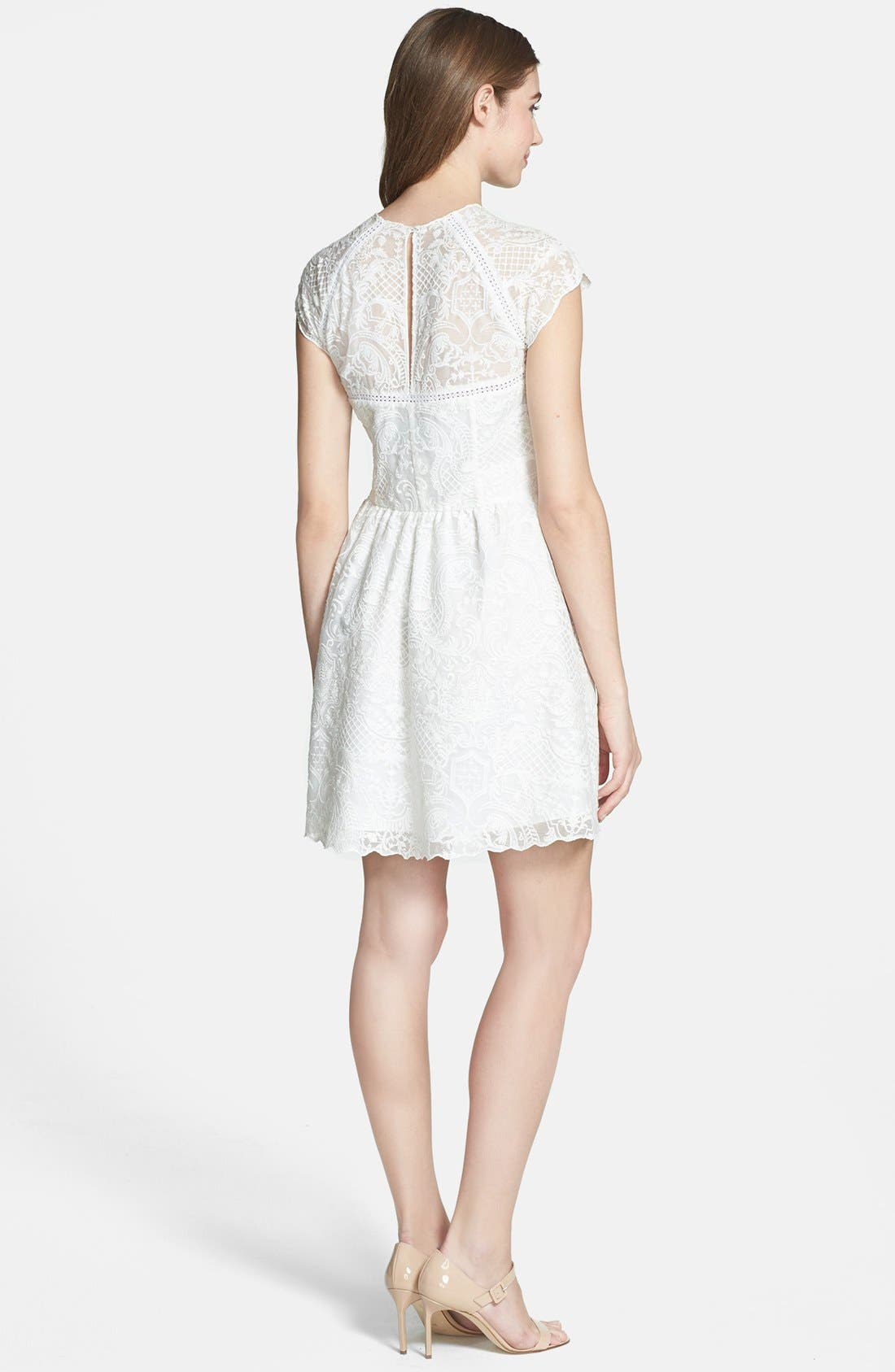 Alternate Image 2  - Dolce Vita Embroidered Organza Fit & Flare Dress