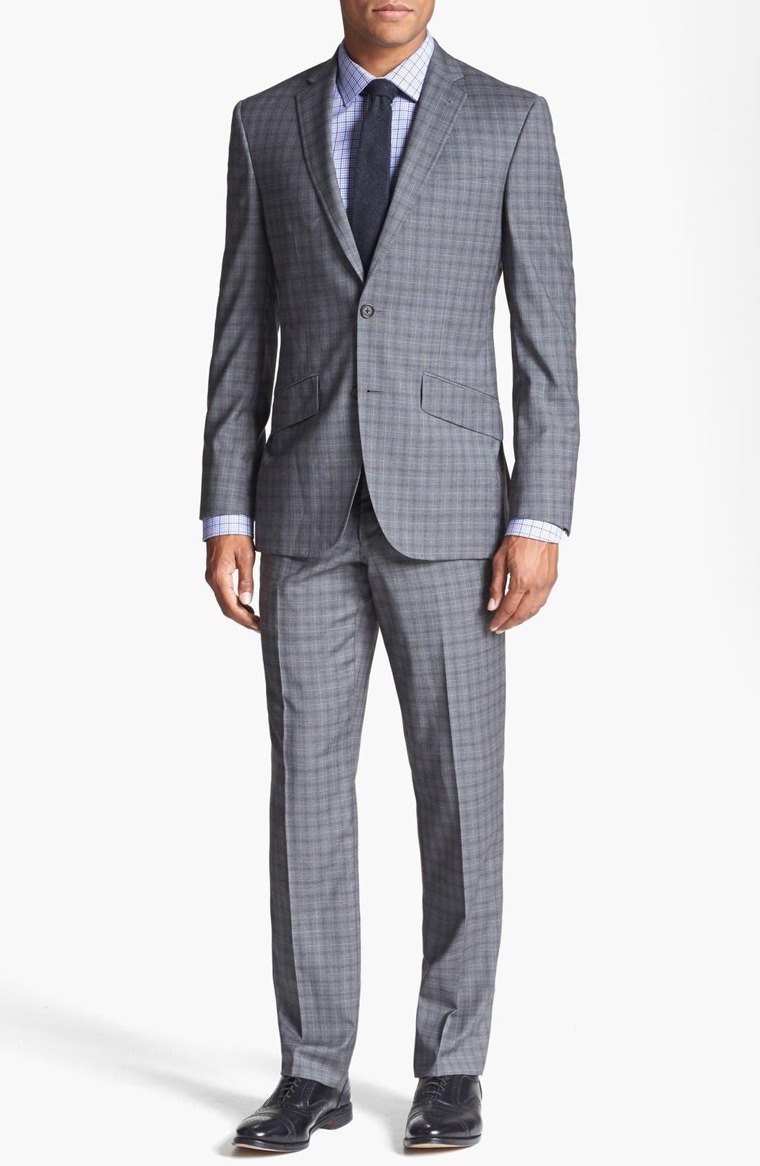 Alternate Image 1 Selected - Ted Baker London 'Jones' Trim Fit Check Suit