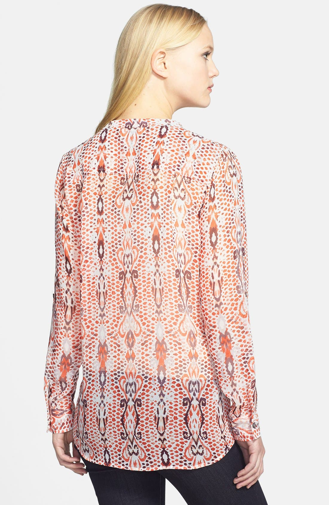 Alternate Image 2  - Two by Vince Camuto Print Split Neck Blouse