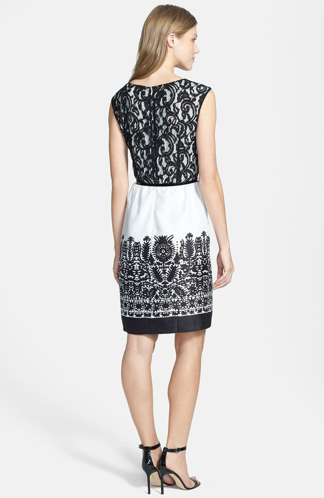Alternate Image 3  - Ellen Tracy Mixed Media Sheath Dress