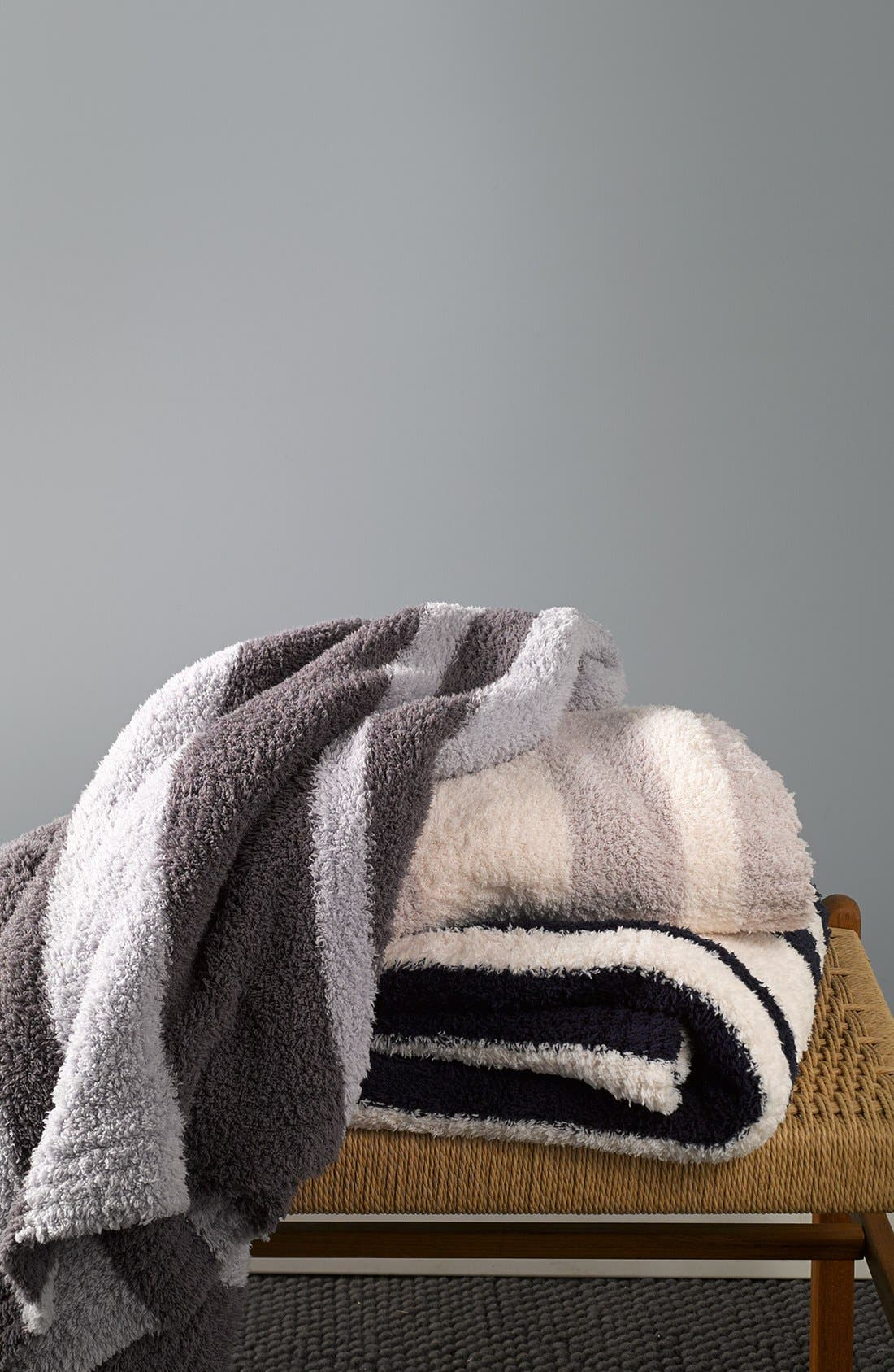 Alternate Image 2  - Barefoot Dreams® 'CozyChic®' Stripe Throw (Nordstrom Exclusive)