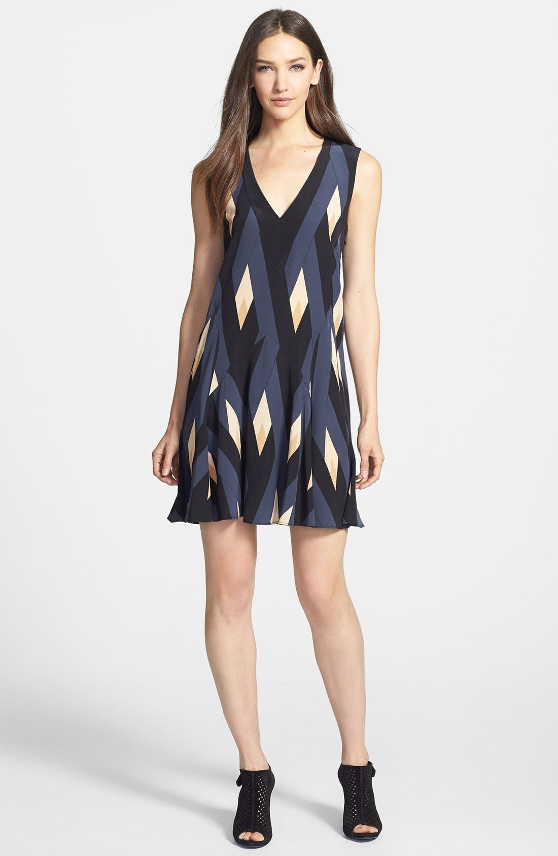 Main Image - MARC BY MARC JACOBS 'Diamond Flame' Silk A-Line Dress