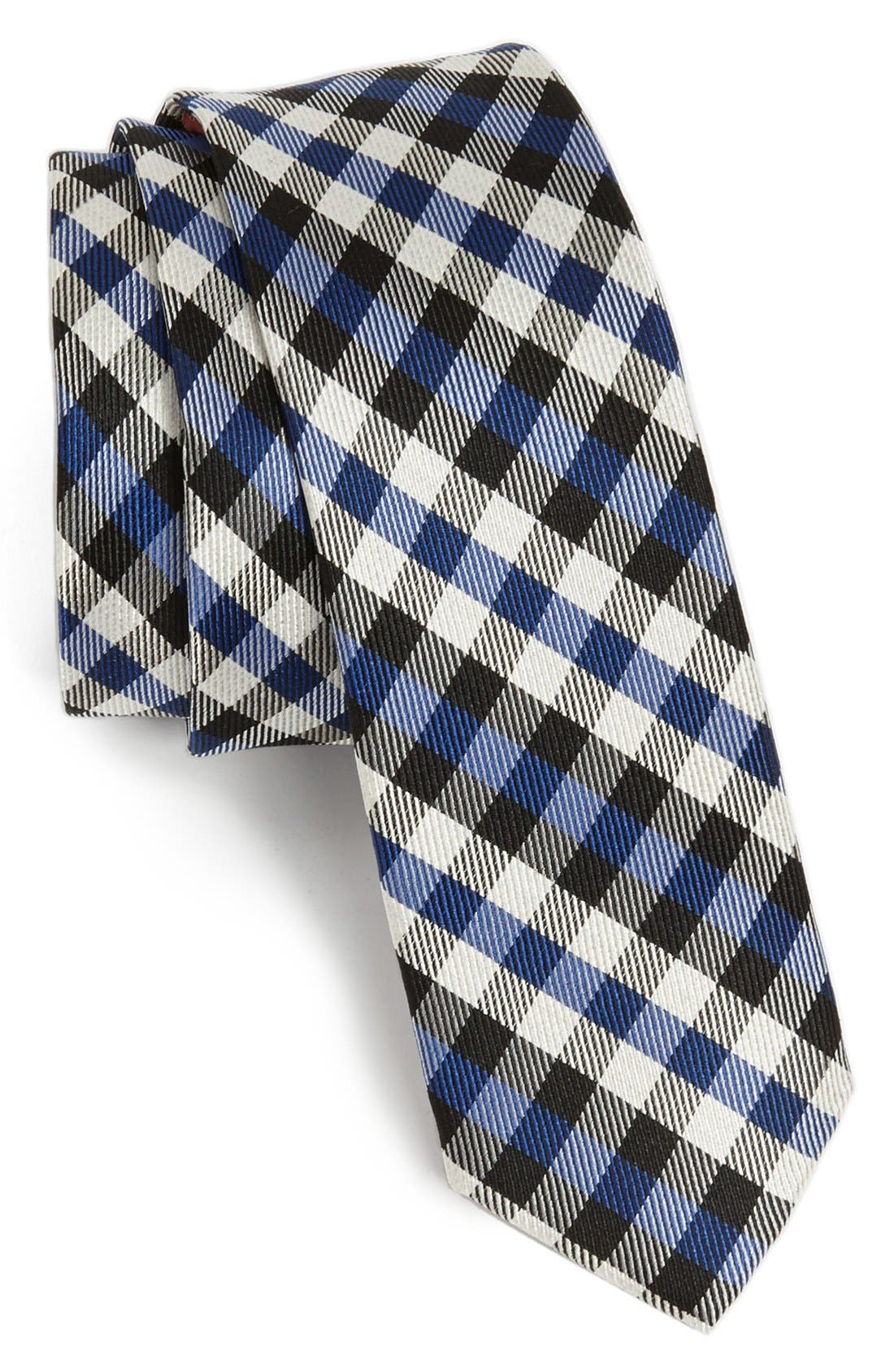 Main Image - Original Penguin 'Cape Check' Woven Silk Tie
