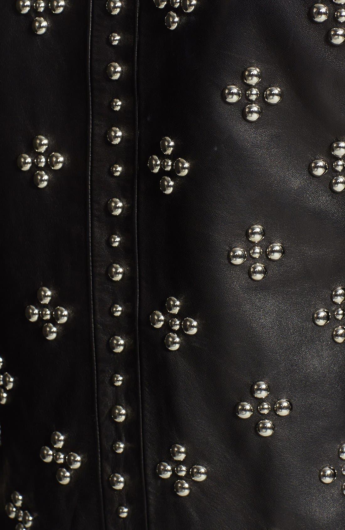 Alternate Image 3  - Diane von Furstenberg 'Cocoa' Studded Leather Moto Jacket