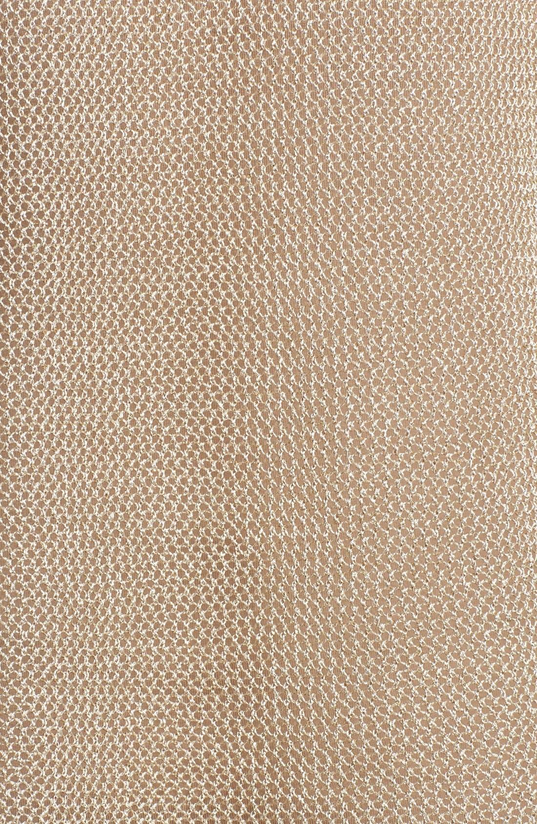 Alternate Image 3  - MICHAEL Michael Kors Metallic Mesh Boxy Sweater (Regular & Petite)