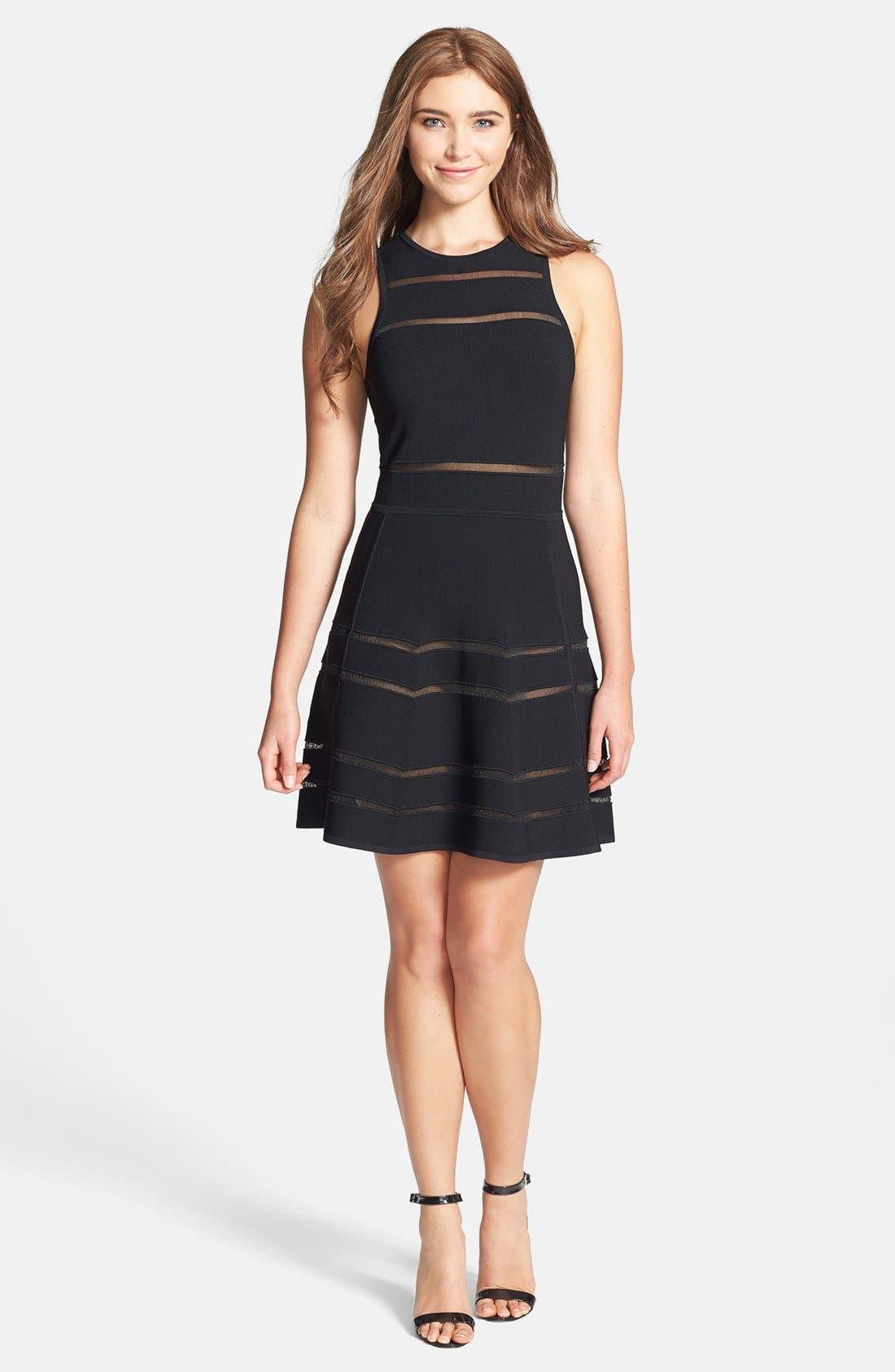 Alternate Image 3  - Nicole Miller 'Cody' Banded Knit Fit & Flare Dress
