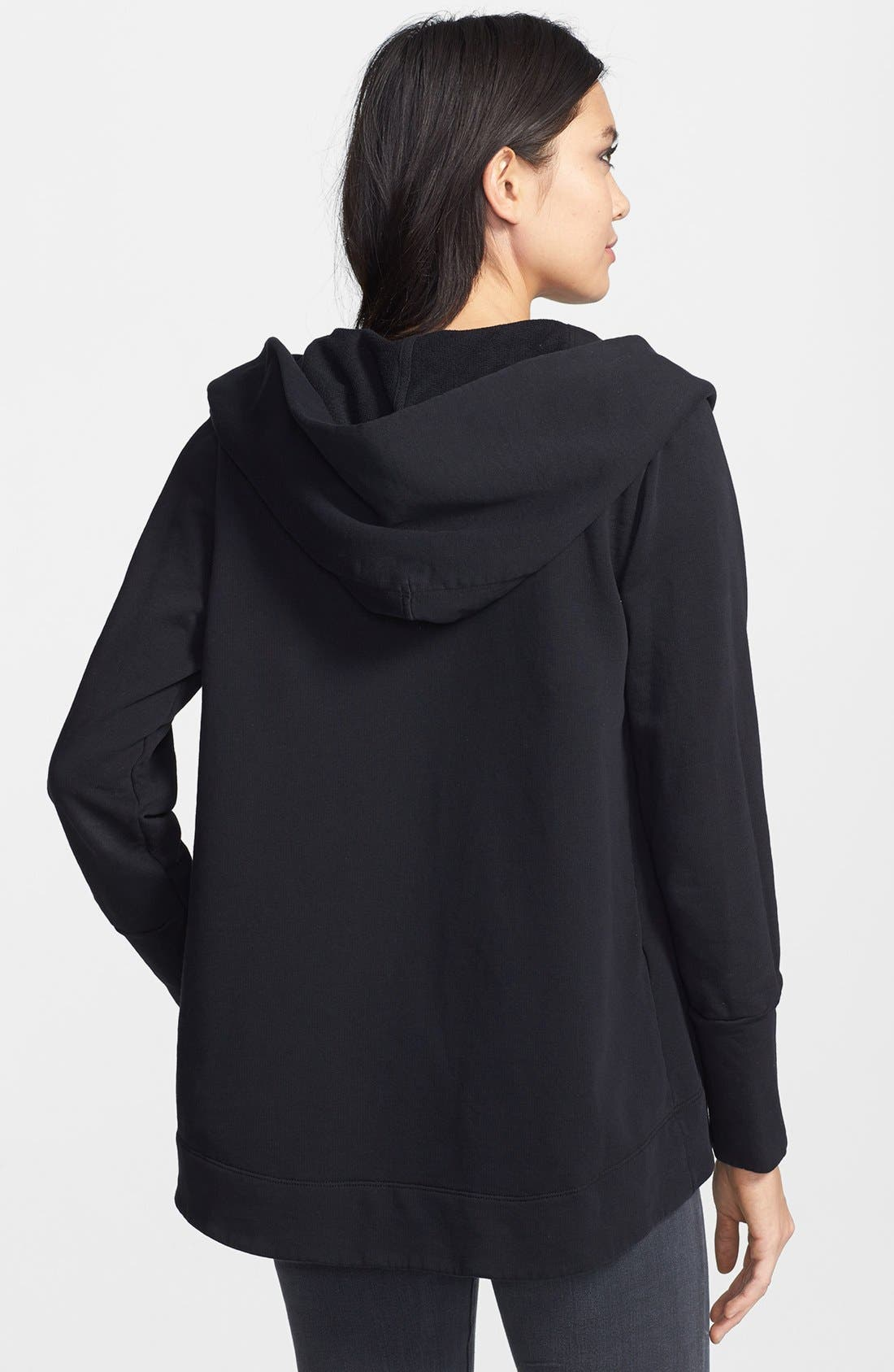 Alternate Image 2  - James Perse Open Front Draped Hoodie