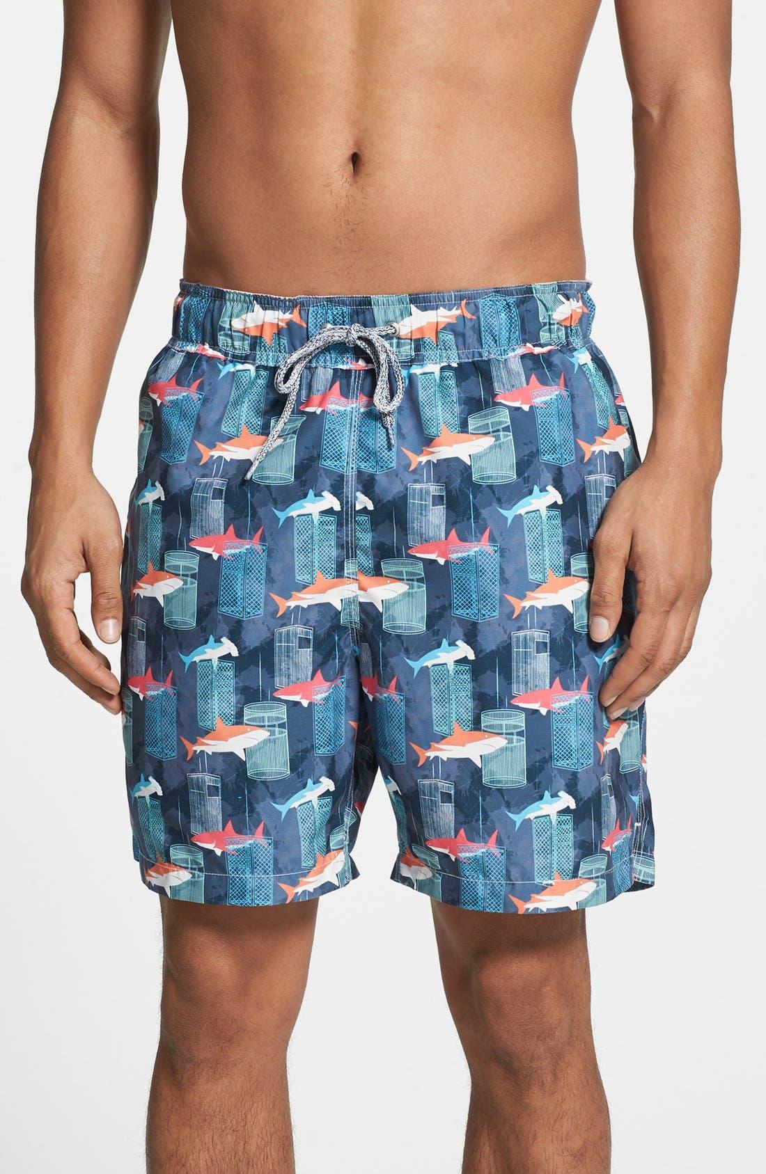 Alternate Image 1 Selected - Michael's Swimwear 'Shark Tank' Swim Trunks